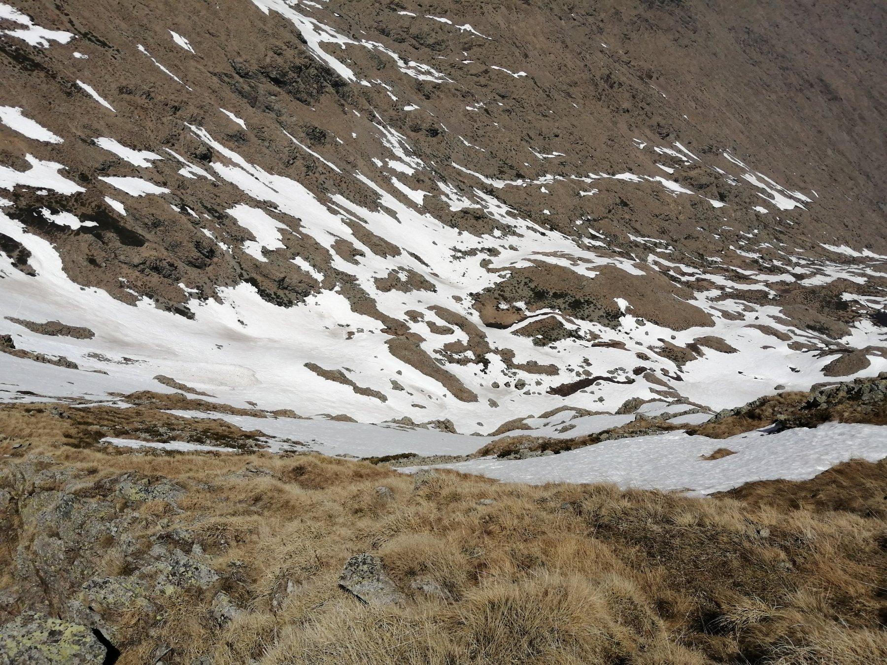 condizioni neve del 5/5/20 nel canalone nord