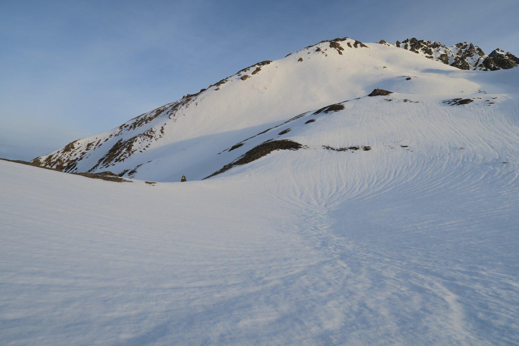 Chenaille (Mont), anticima quota 2986 m da Chatelair 2020-05-08