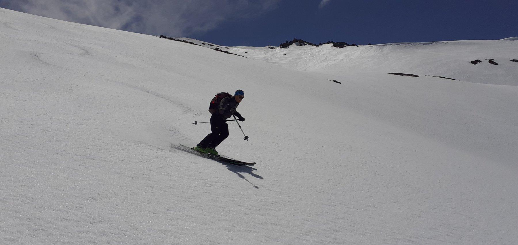 Discesa al top su neve trasformata