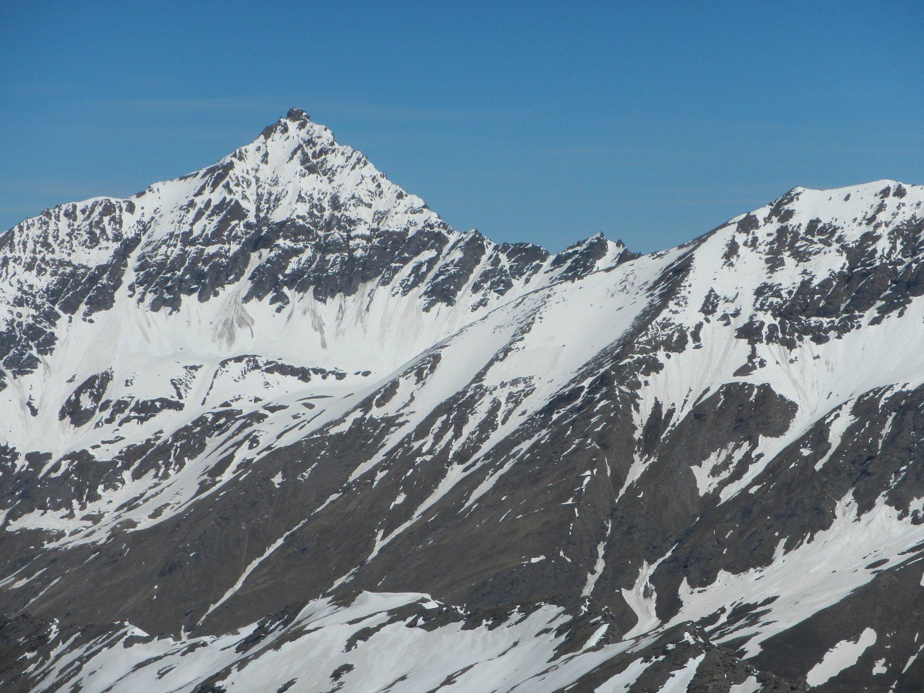 dalla cima: la Pierre Menue o Aiguille de Scolette