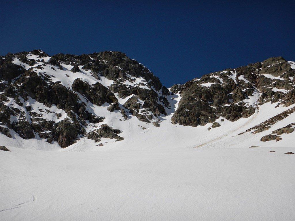 La cima di Leccia ed il canaletto nord est