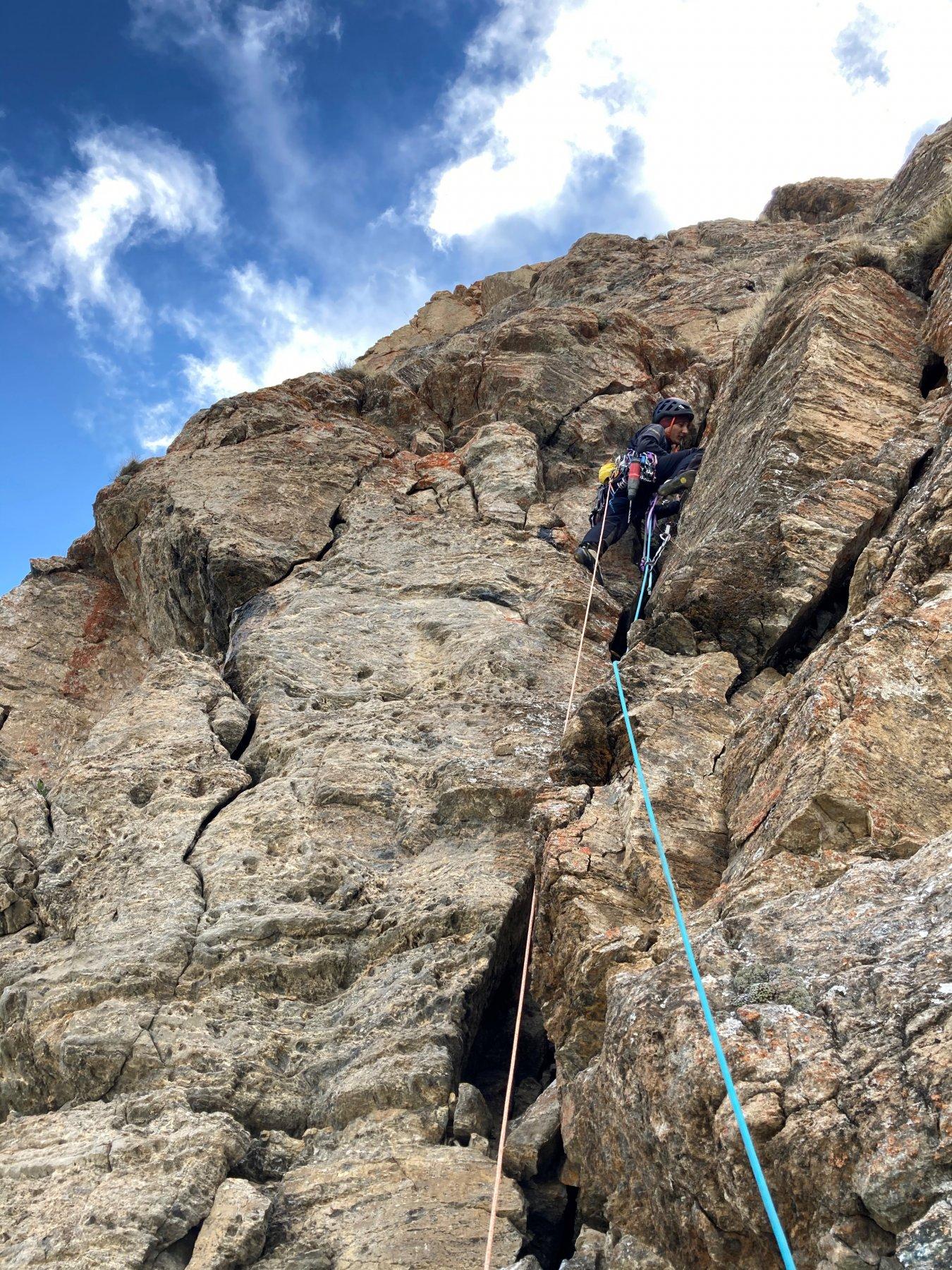 Ciardonnet (Parete dell'Alpe) Capitan Uncino, Spugna e le Bretelle di Natale 2020-05-19