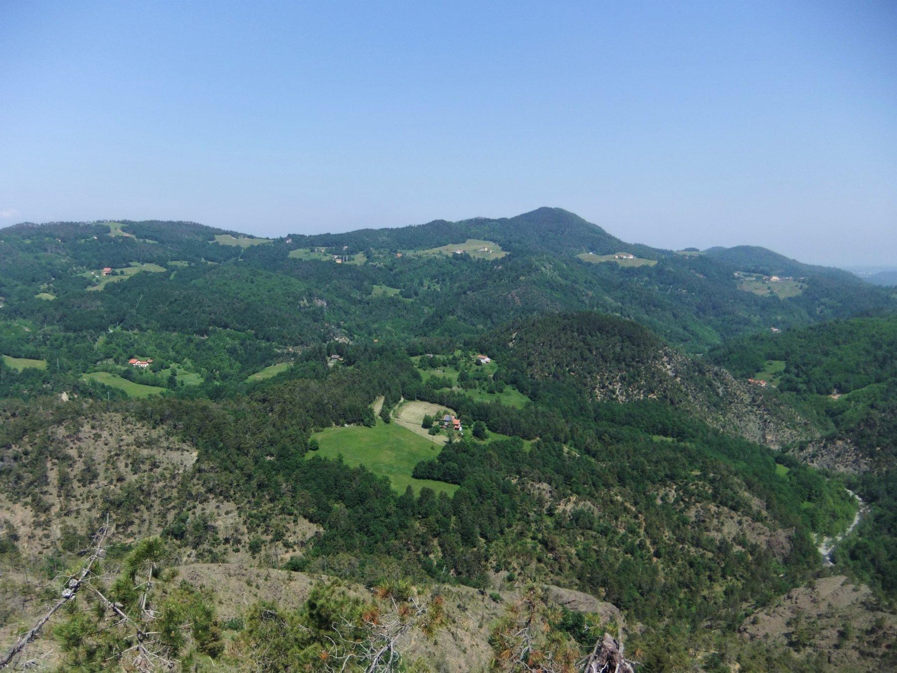 Panorama dalla sommità della Rocca Giana