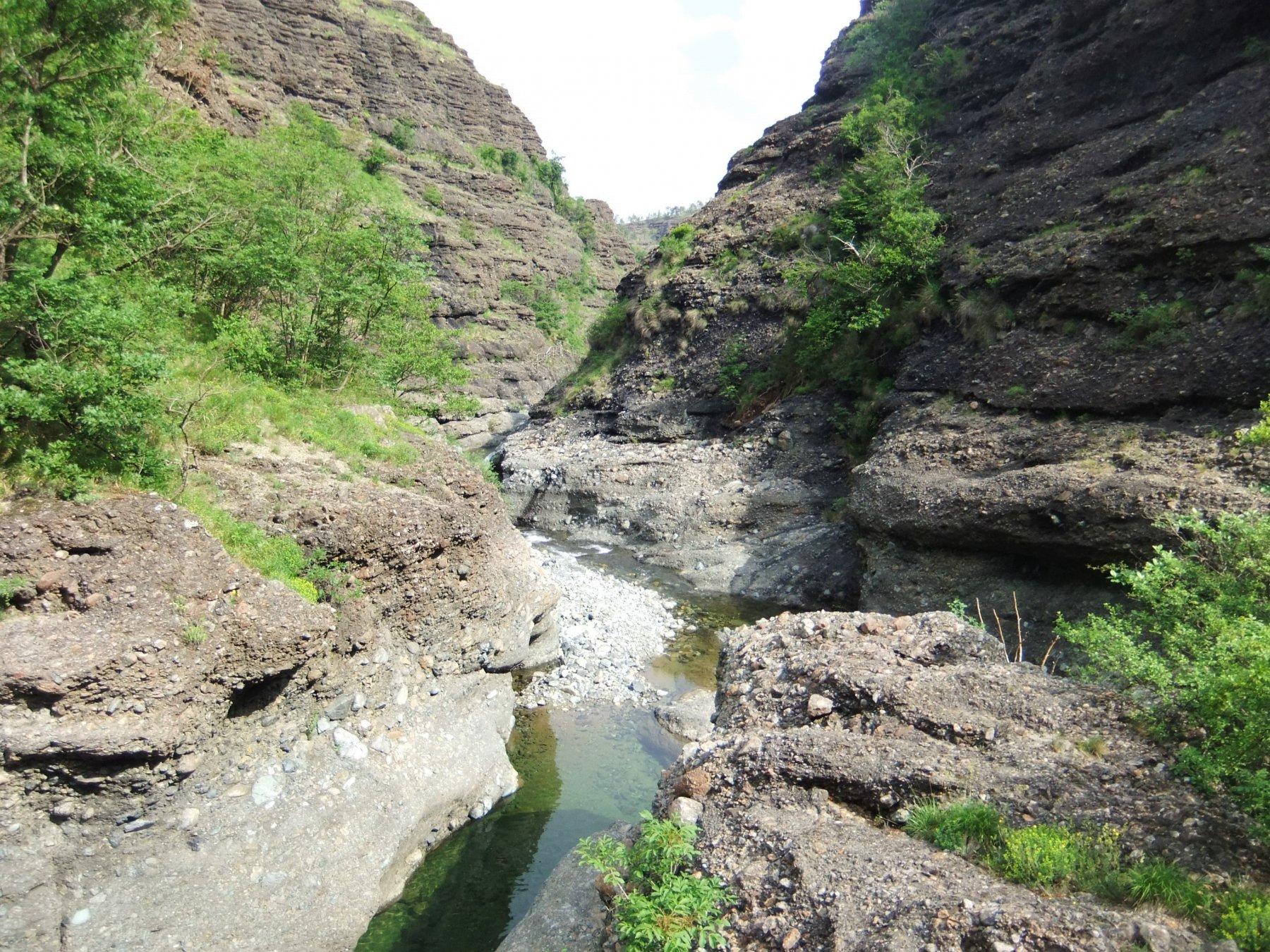 Sul fondo del canyon