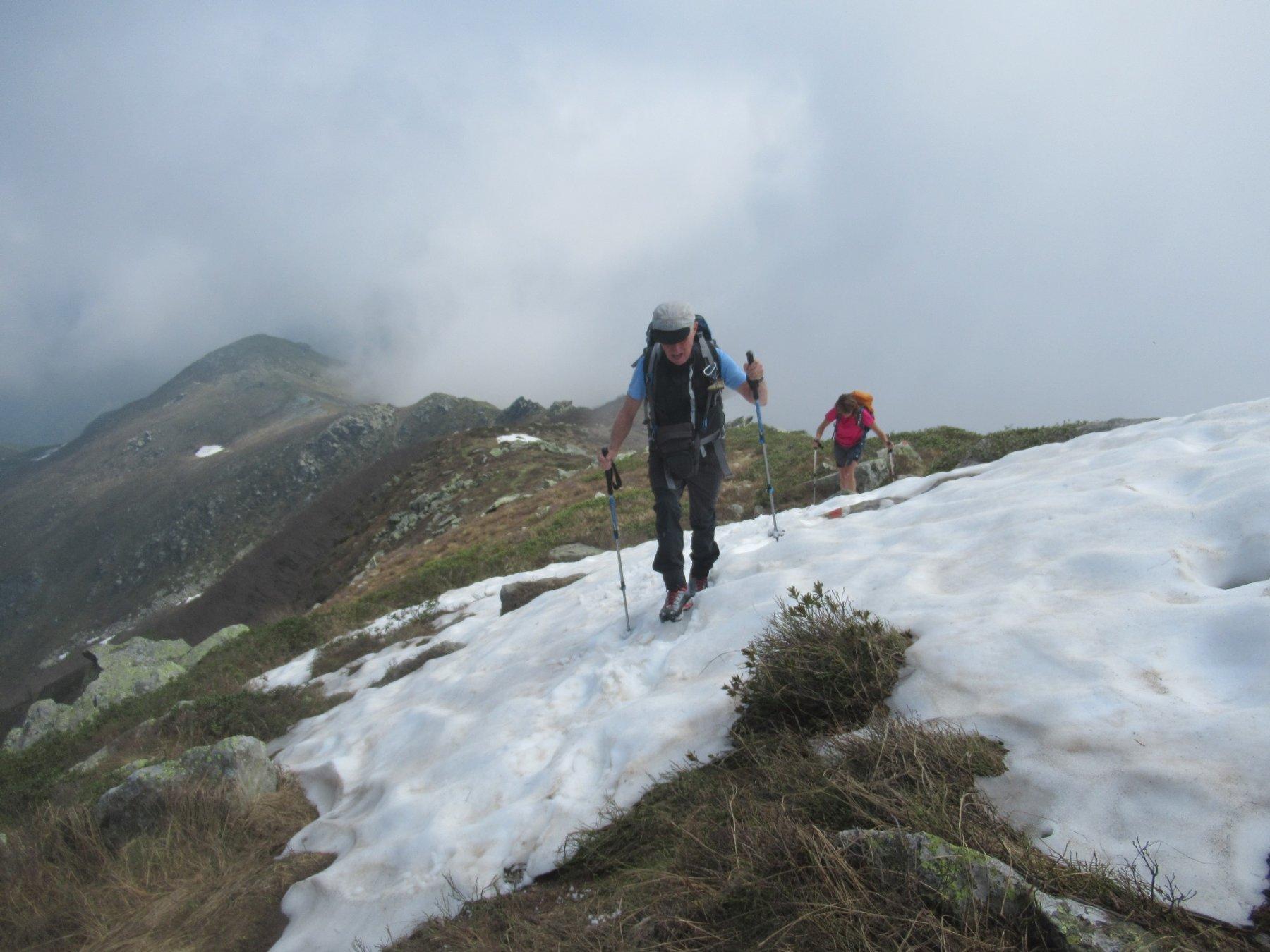 Unica neve sul percorso