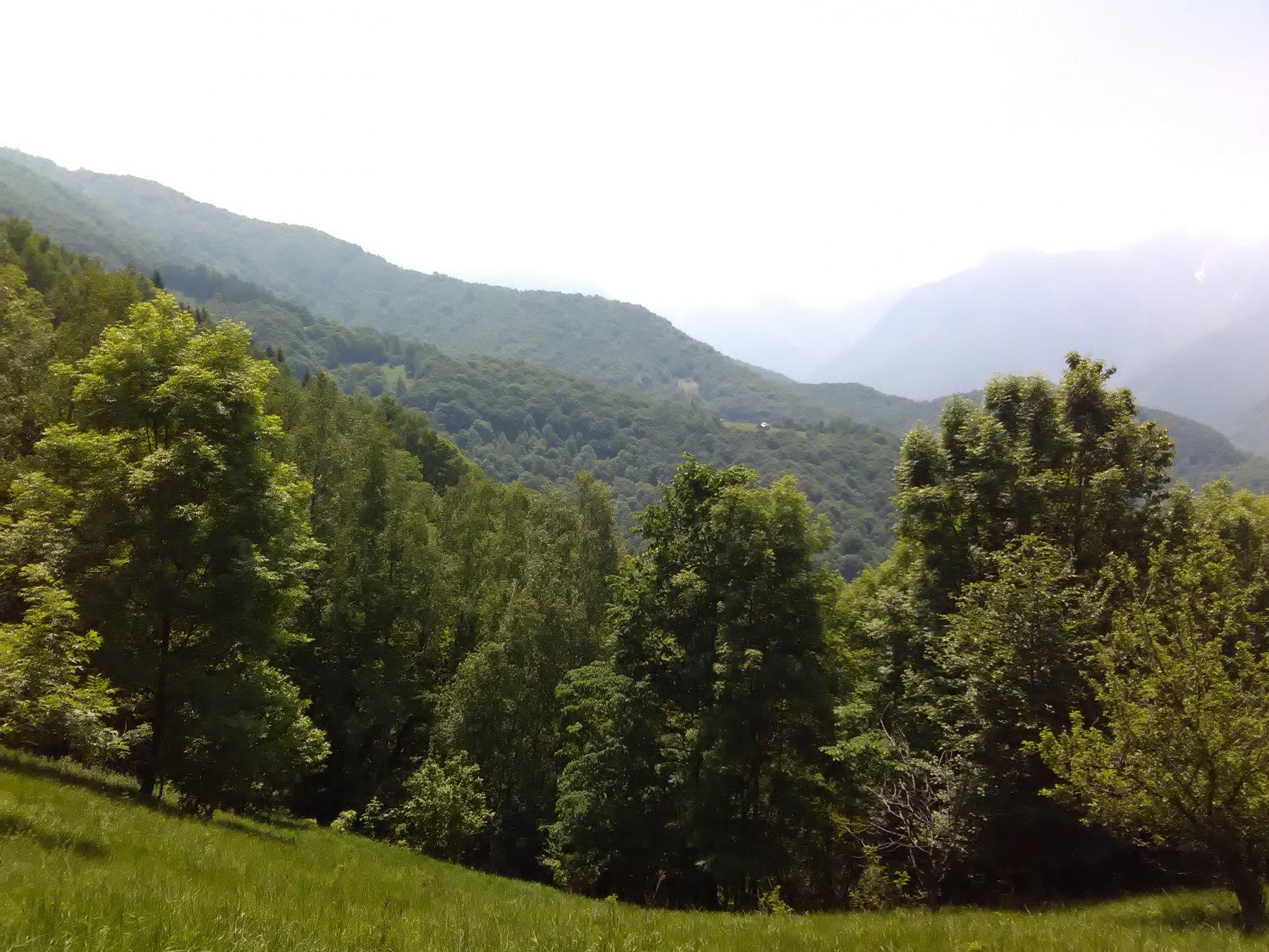 Dal sentiero di discesa Baudinet con dietro la Costa Combassa