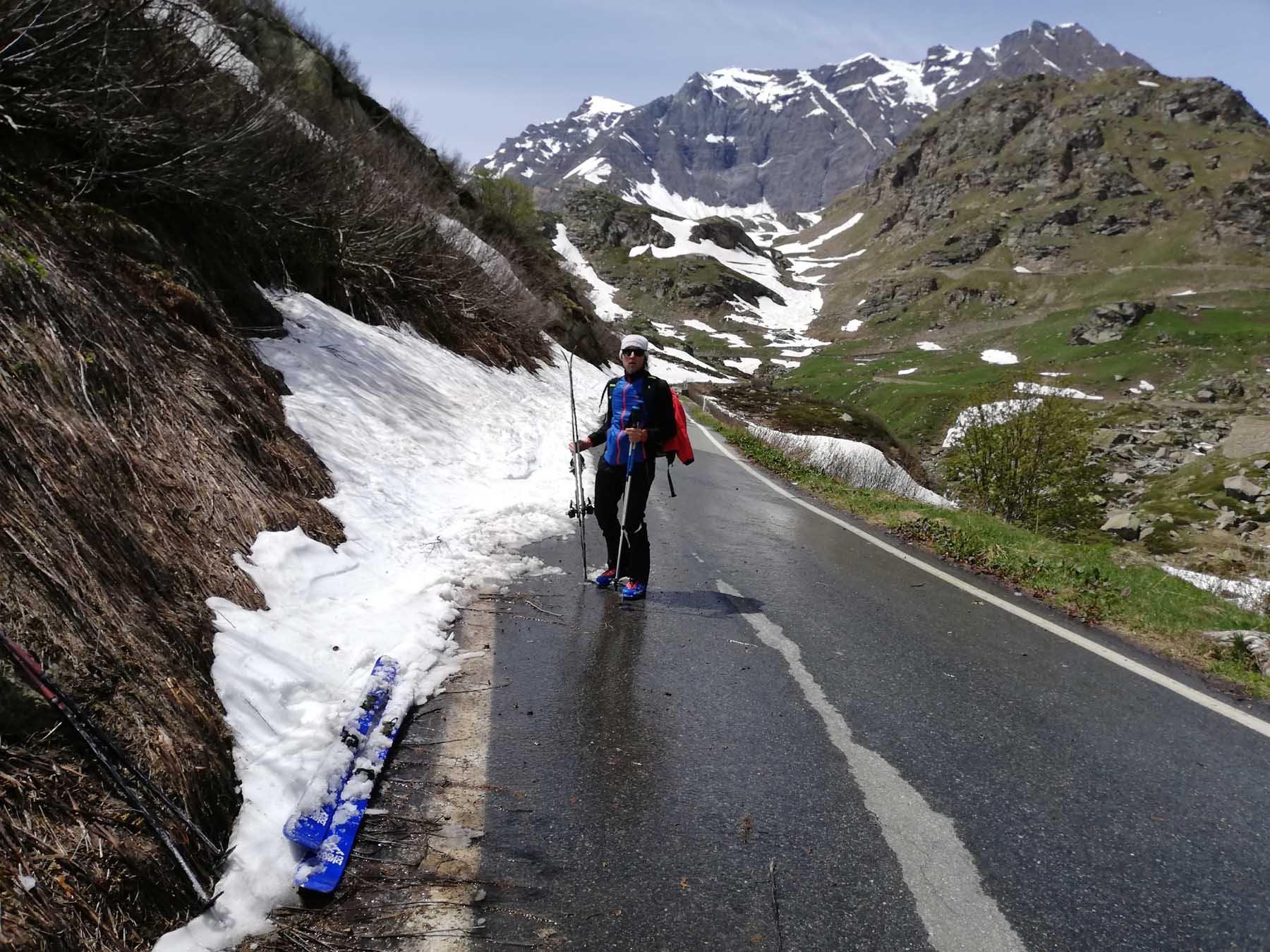 Si arriva ancora sopra all'Alpe Brangie