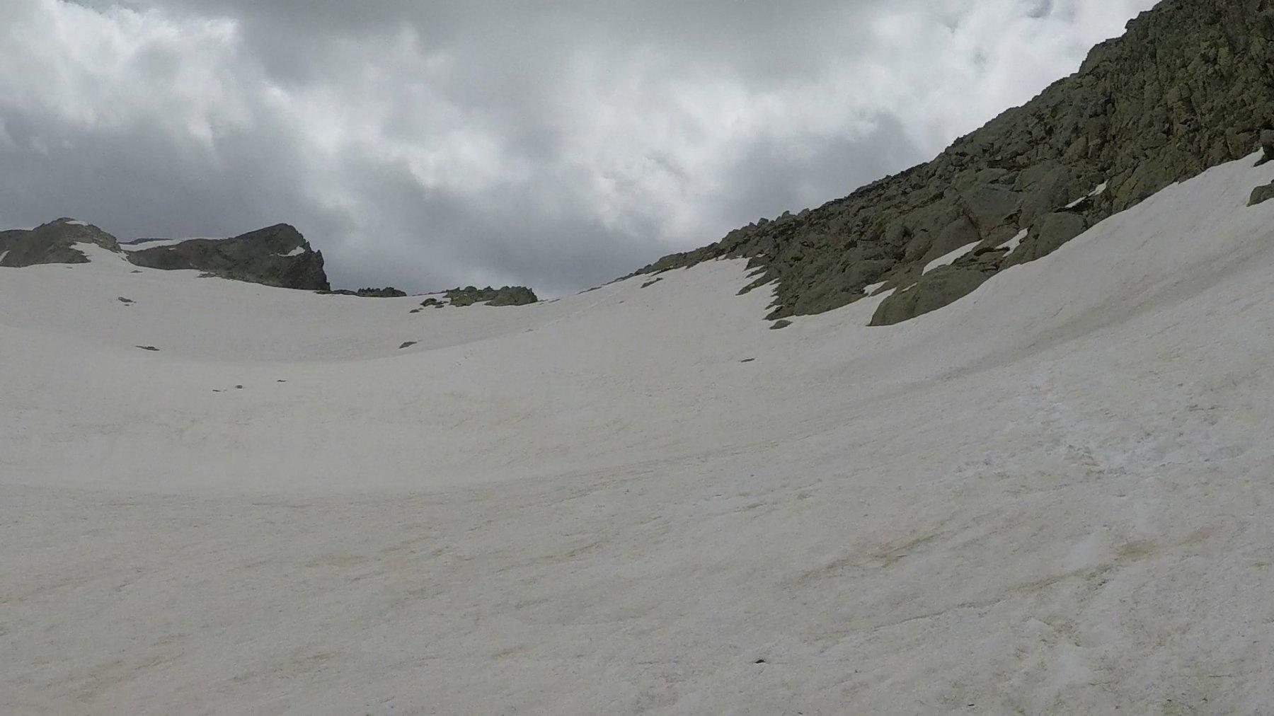unico tratto di neve molle prima del colletto