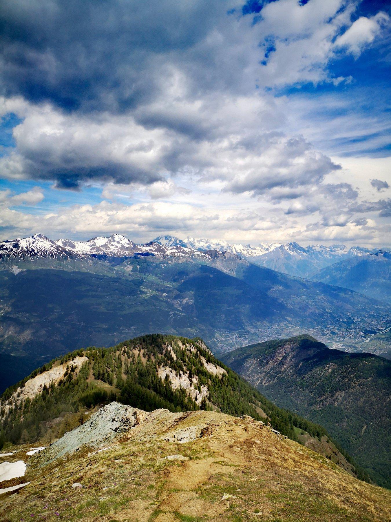 Panorama dal Mont Paillasse