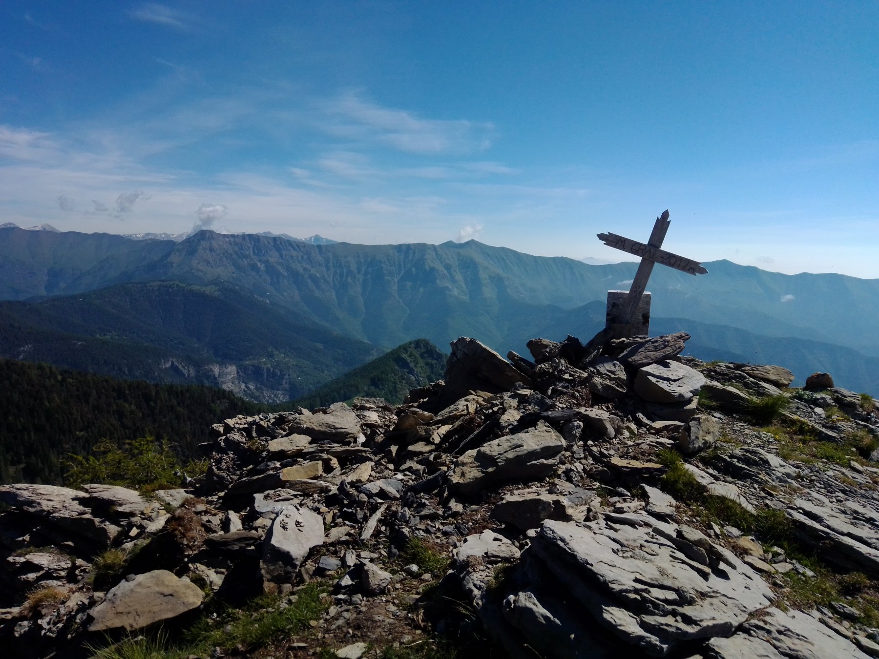 In vetta al monte Gray