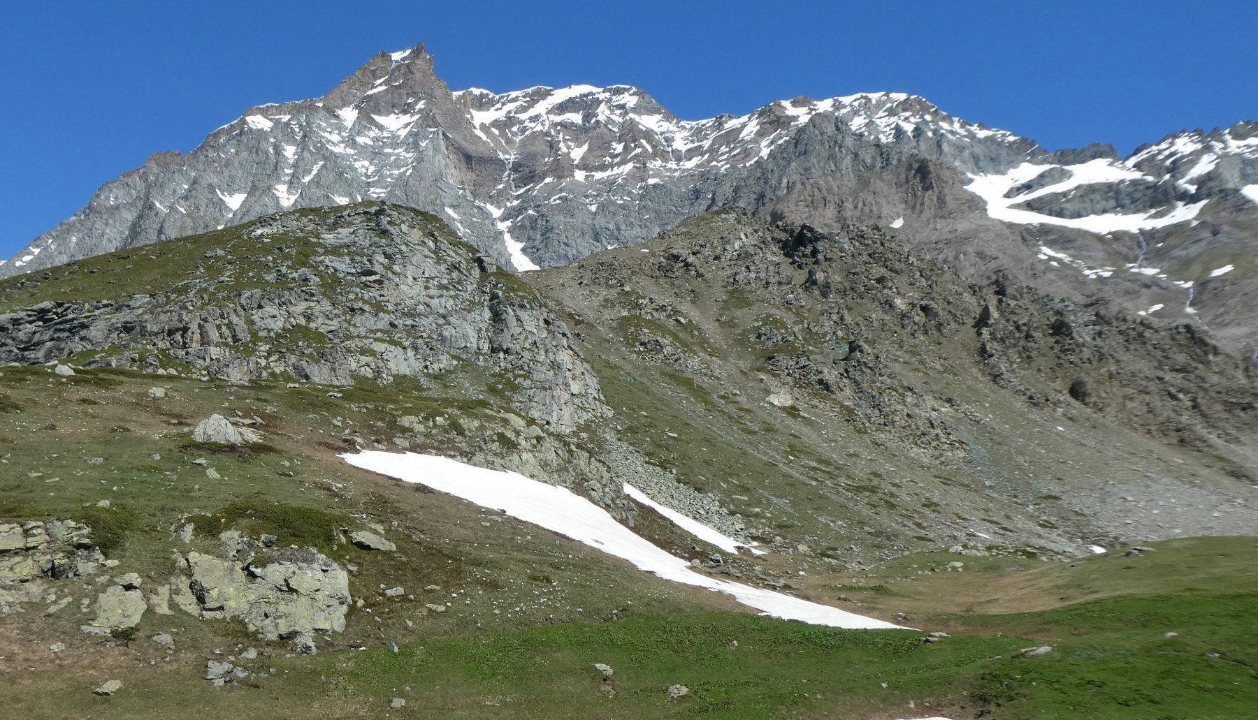la Rocca Ciarva sopra l'alpe Ciamarella