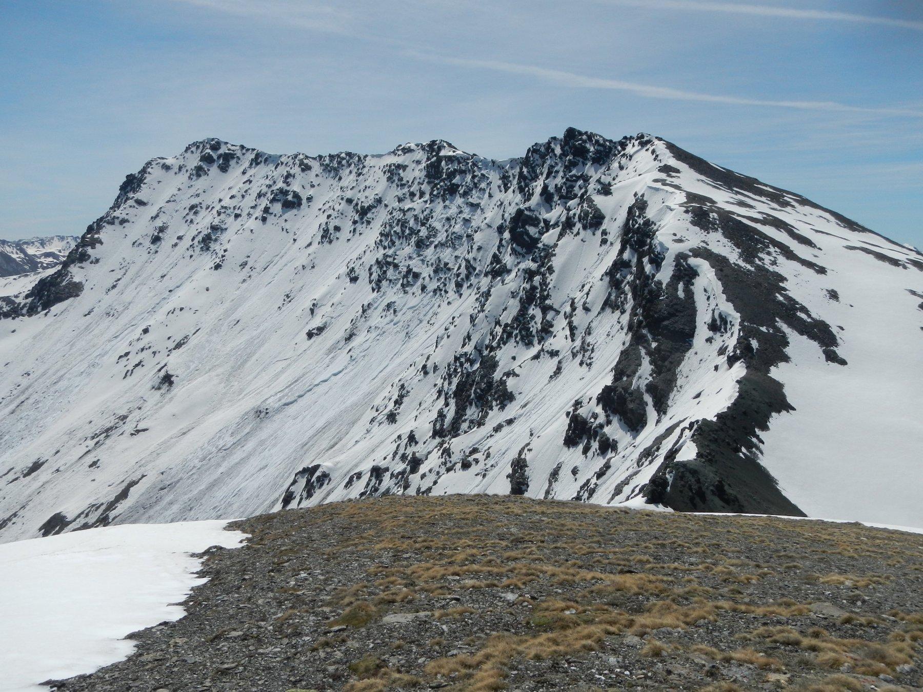 dalla cima: la dorsale tra la Cima di Clausi e la Punta Merciantaira