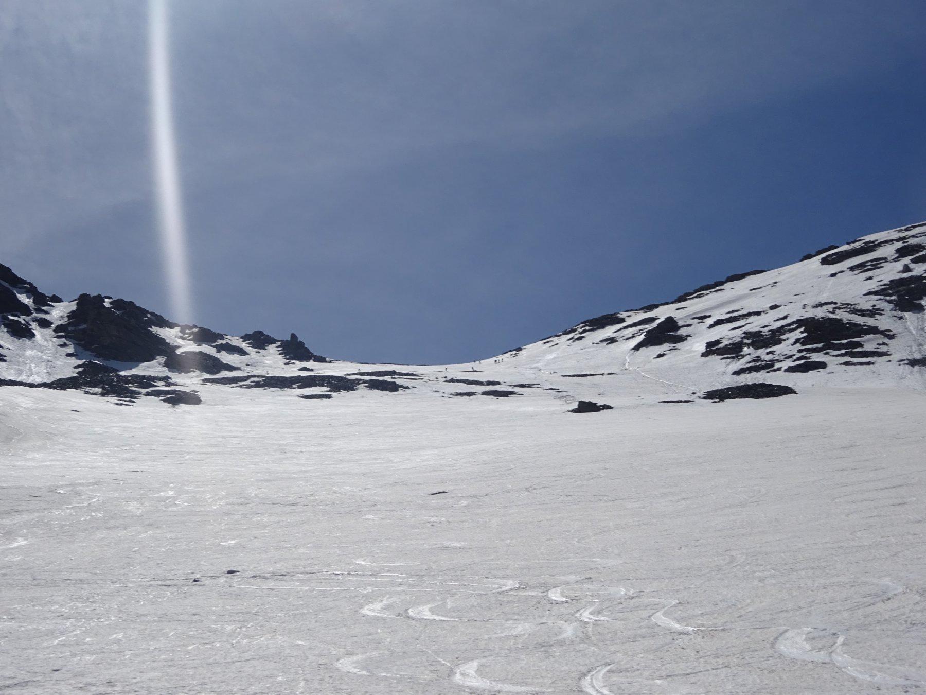 Discesa su neve marmorea