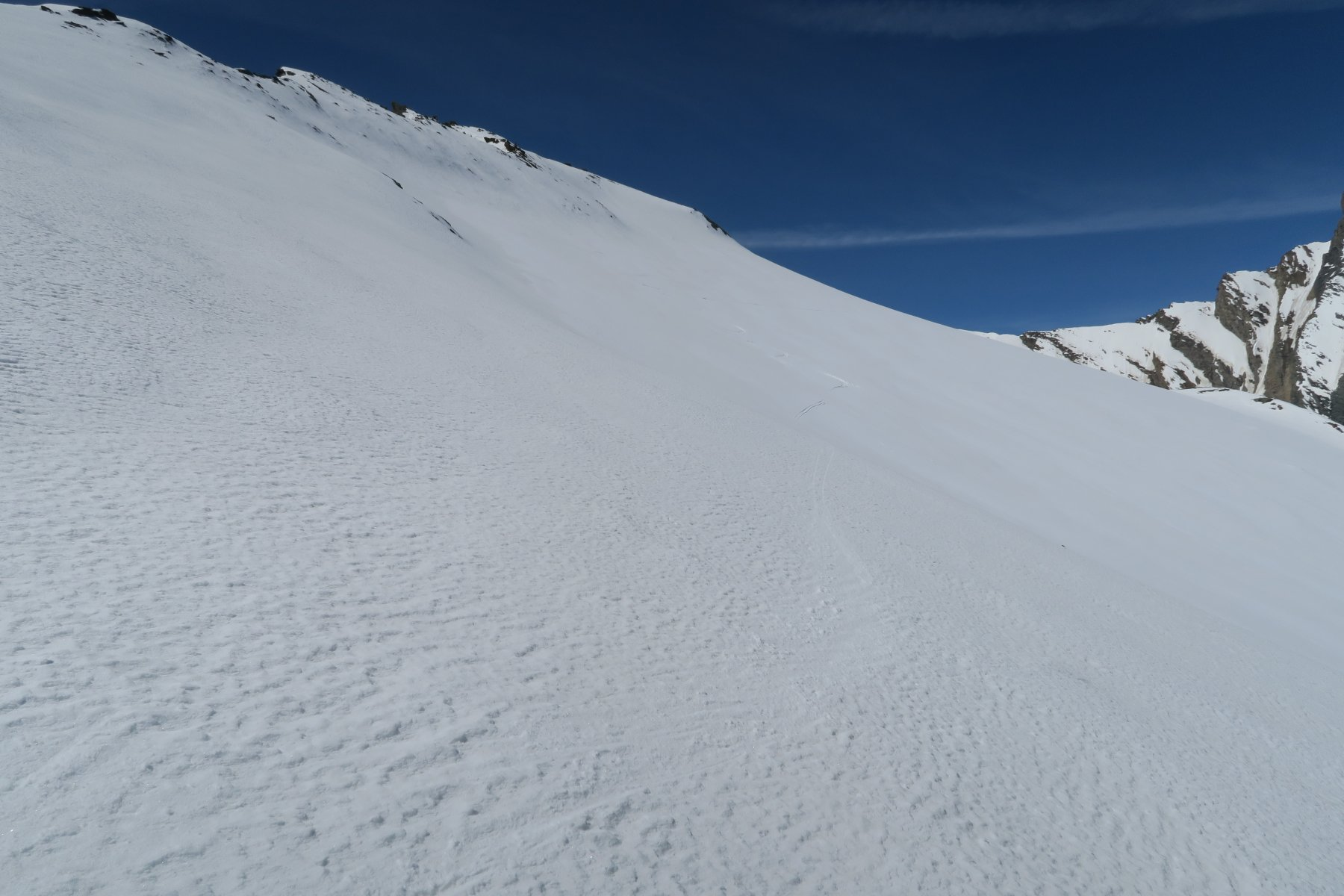 magnifica neve sotto la cima