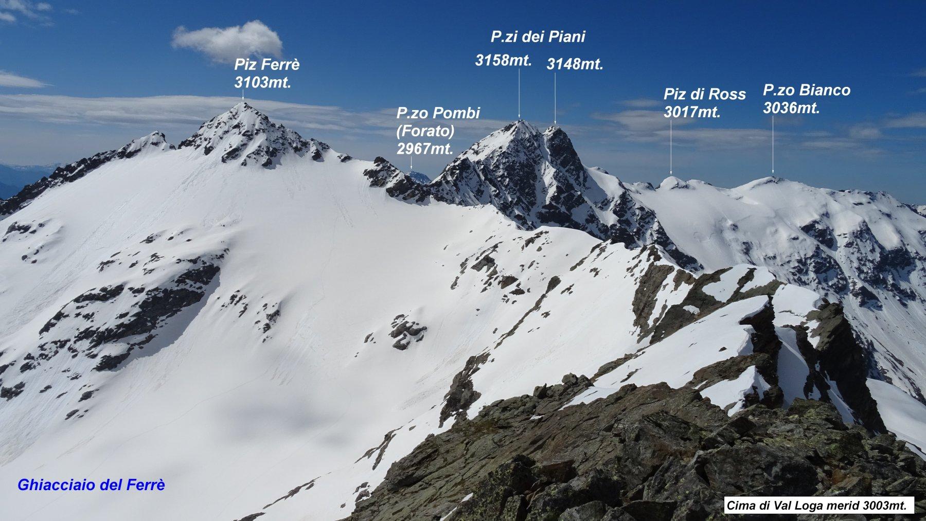 Val Loga(Cime di) da Montespluga 2020-05-28