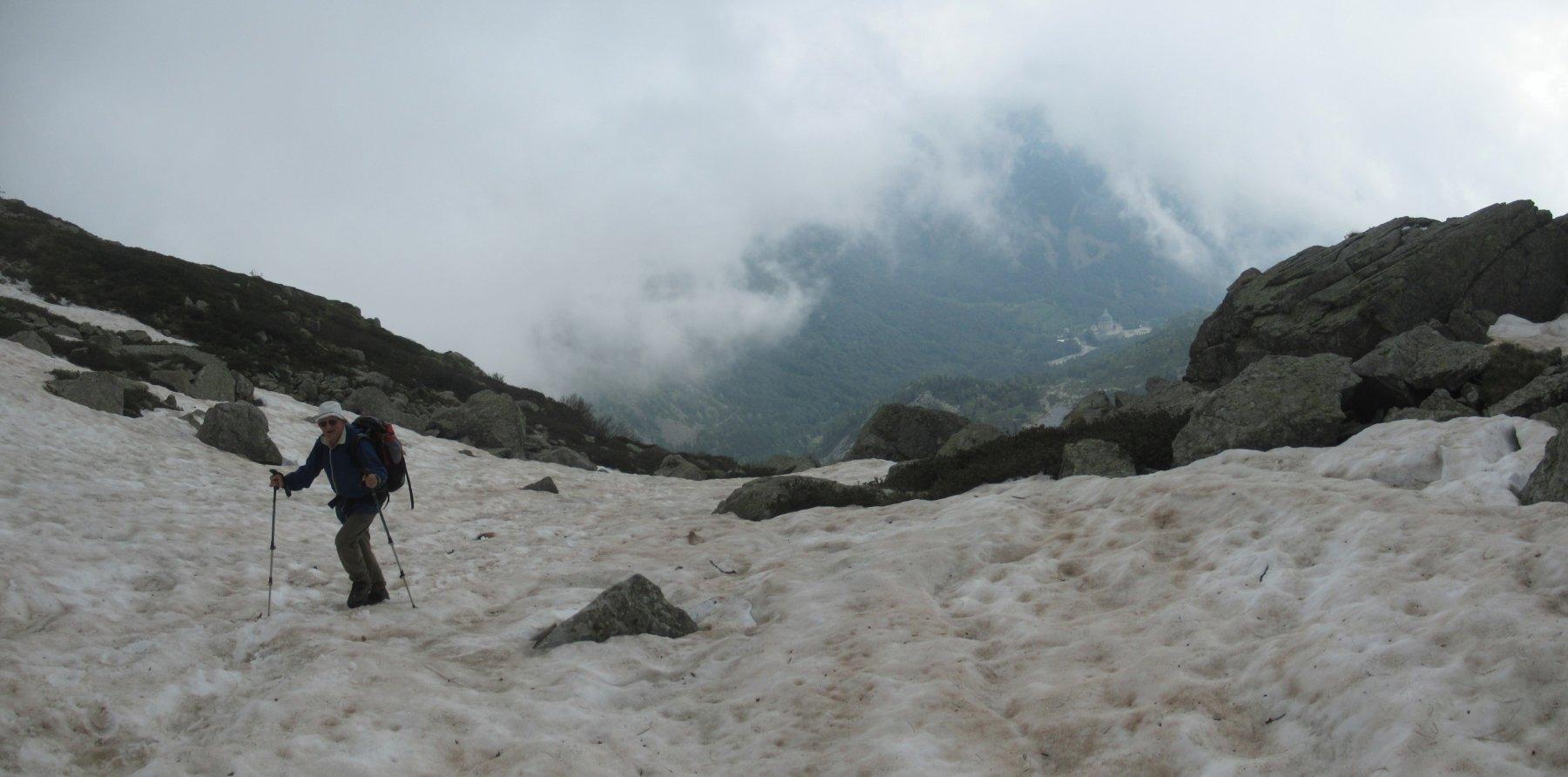 Nevai lungo il percorso