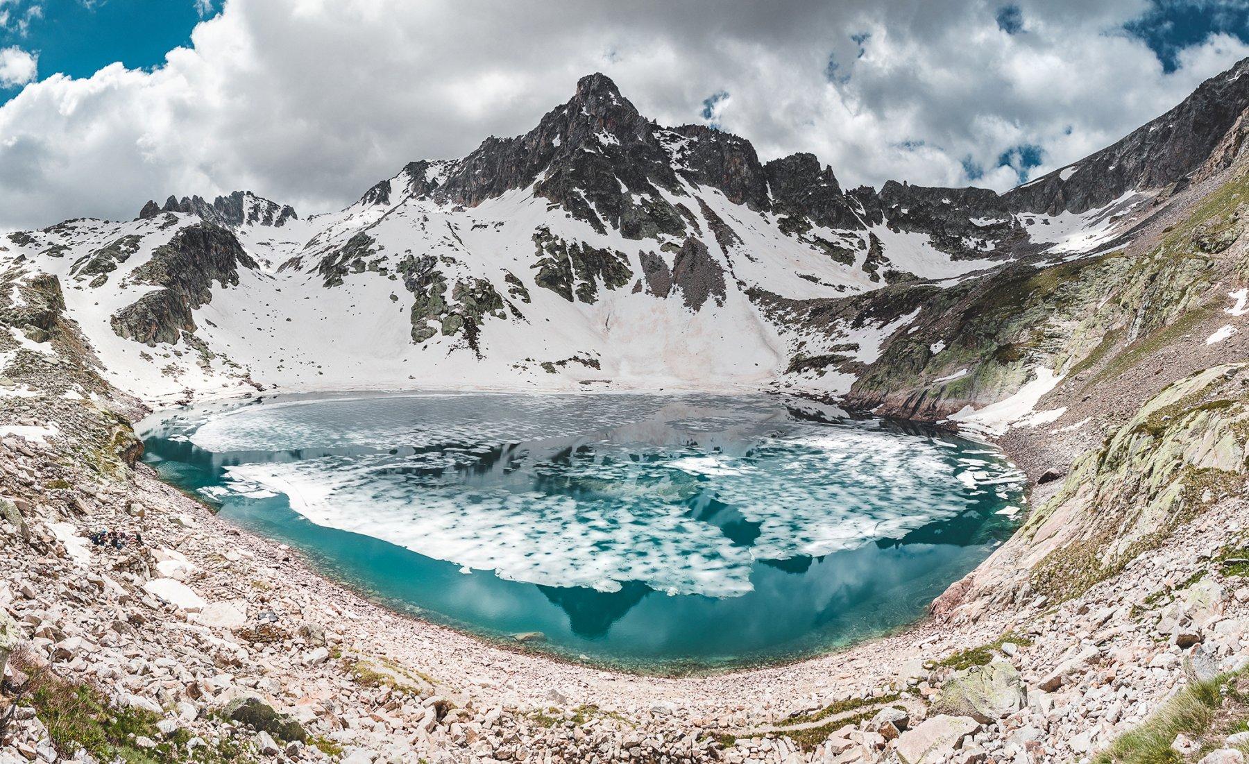 Panorama del lago delle Portette
