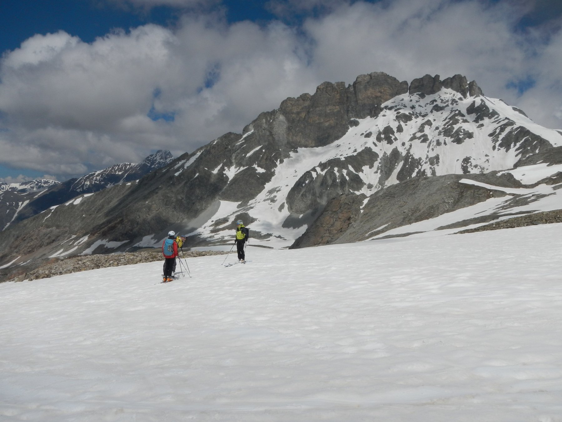 Rognosa di Etiache  3382 m. sullo sfondo