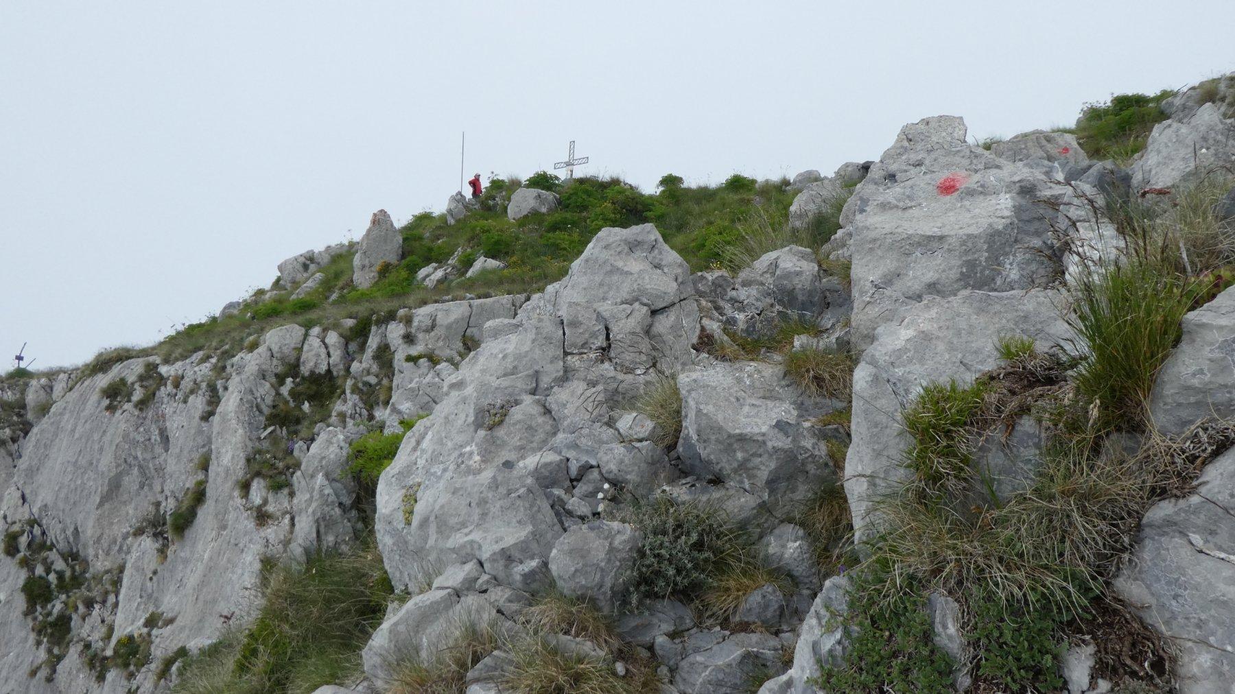 la vetta dellla Cima Ovest del Monte Toraggio