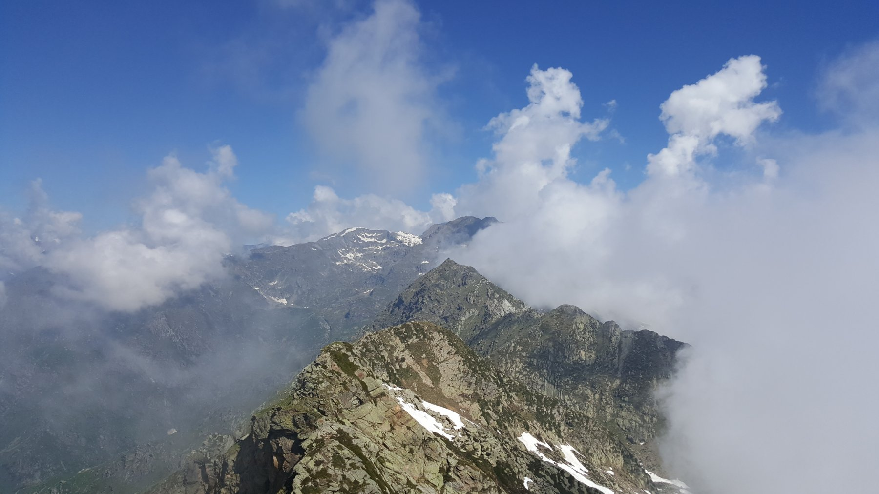 La cresta Beltrando dal Verzel a Punta Rama