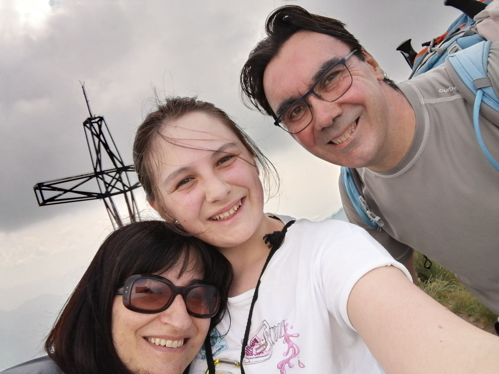 Selfie familiare di vetta