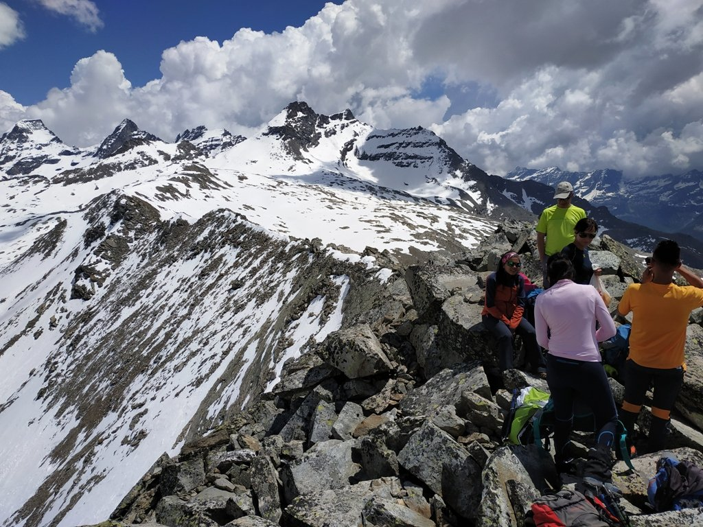 Cresta verso Punta Fourà.