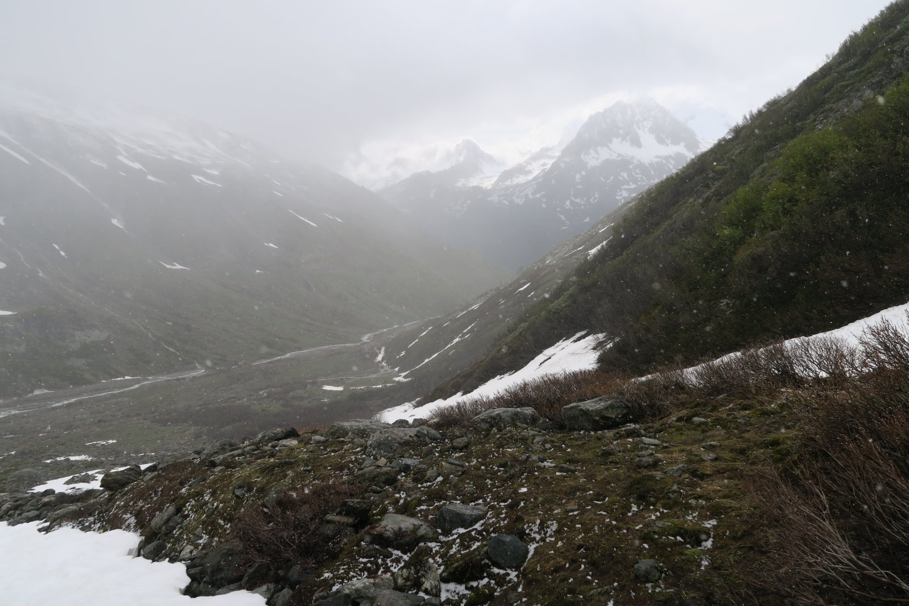 leggera spruzzata di neve già in basso