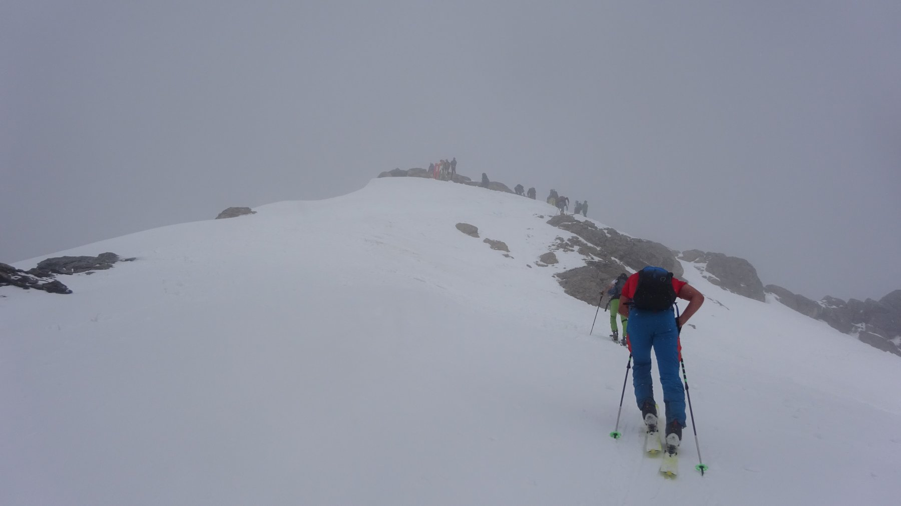 In vista della cima del Fourchon