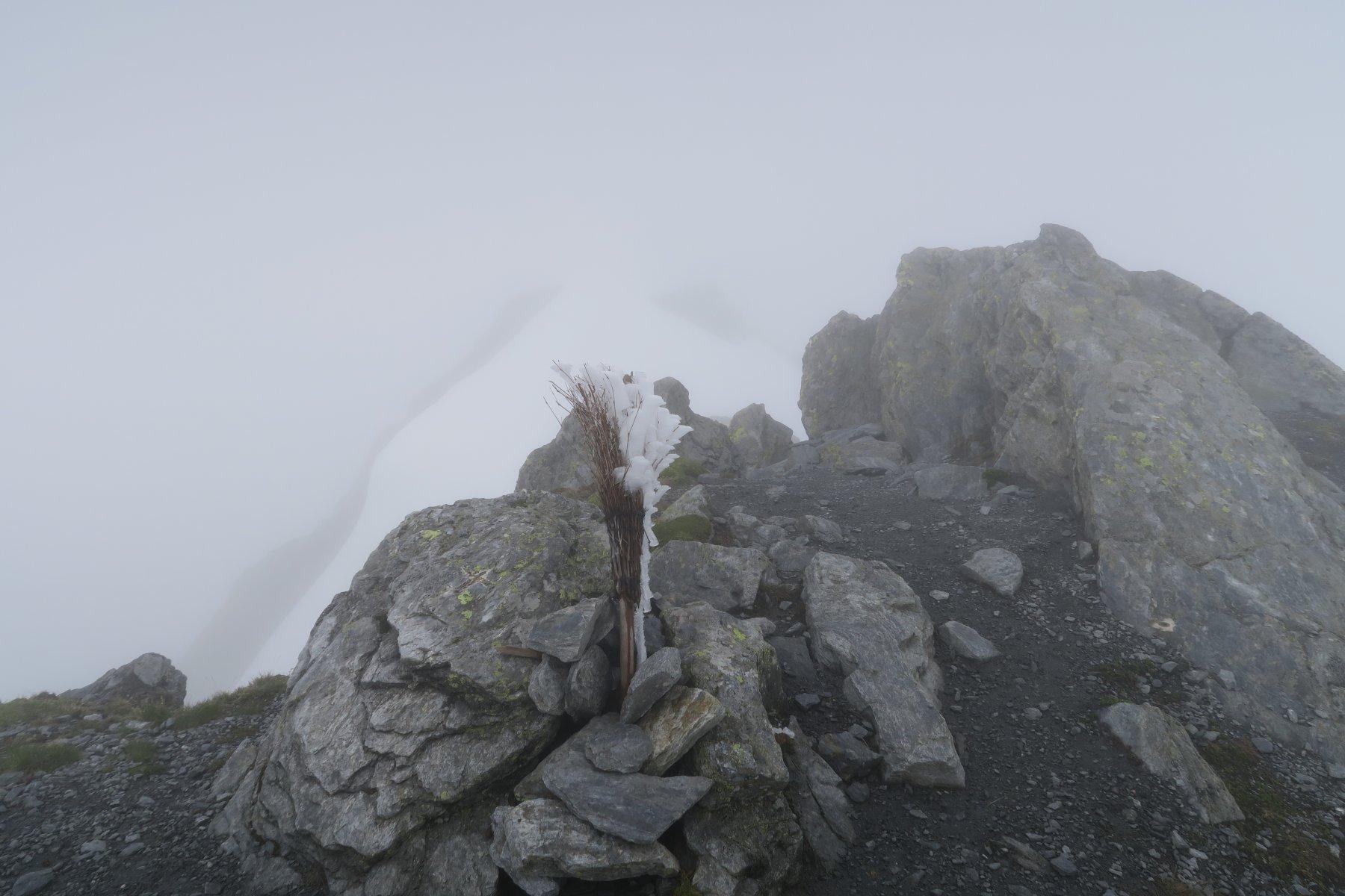 Tete de Fenetre ormai avvolta dalla nebbia