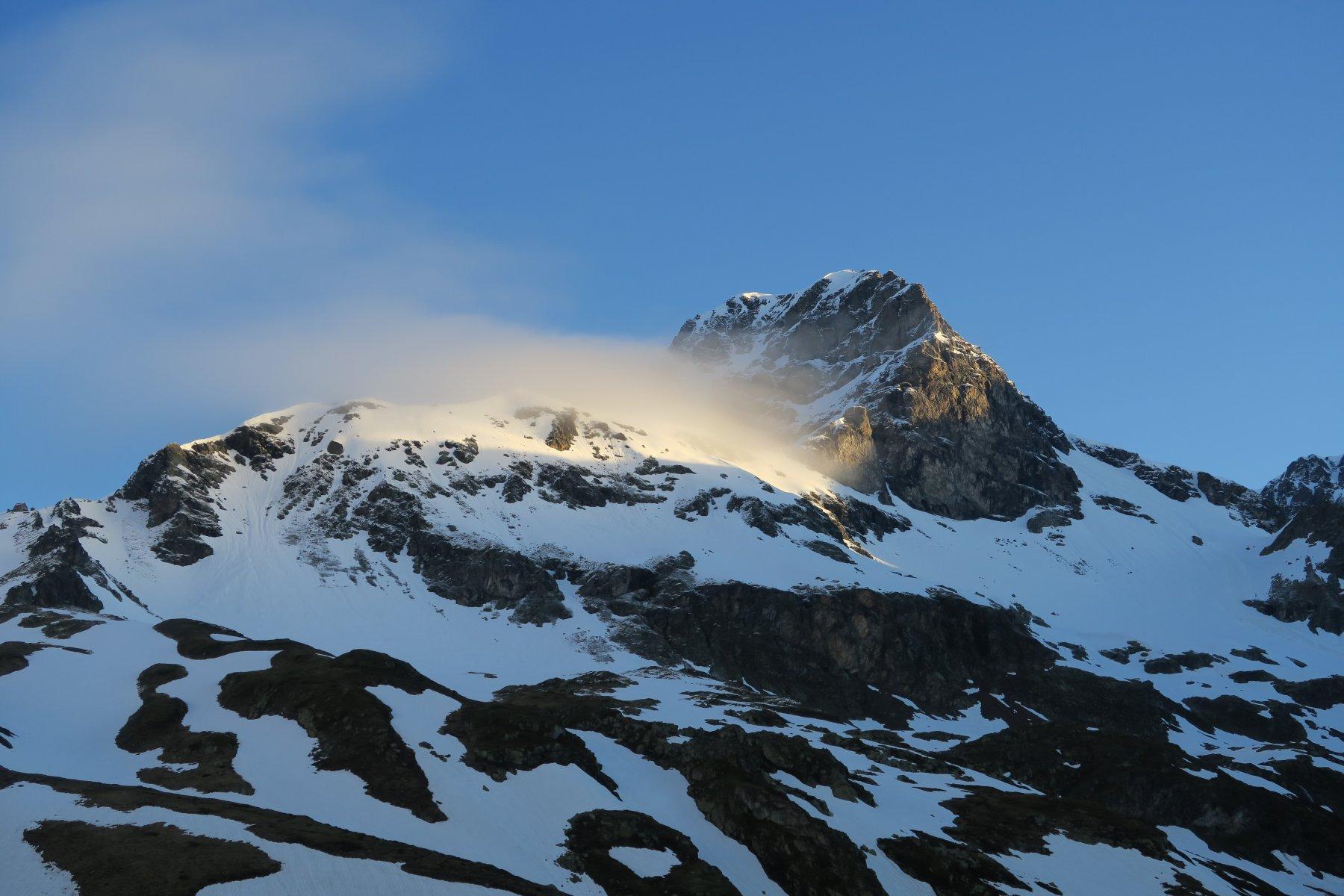 le prime nebbioline sulla Gran Becca du Mont