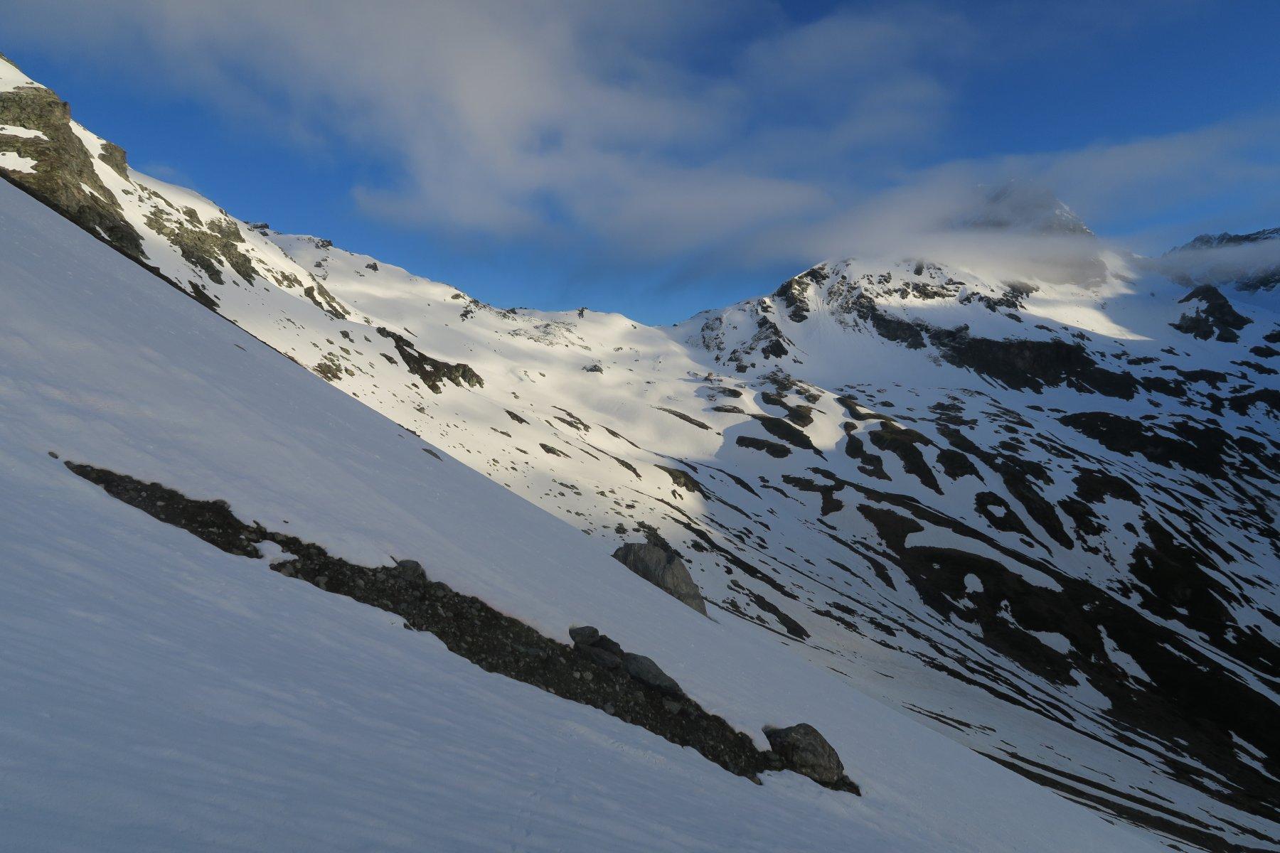 il Col du Mont ancora bello bianco