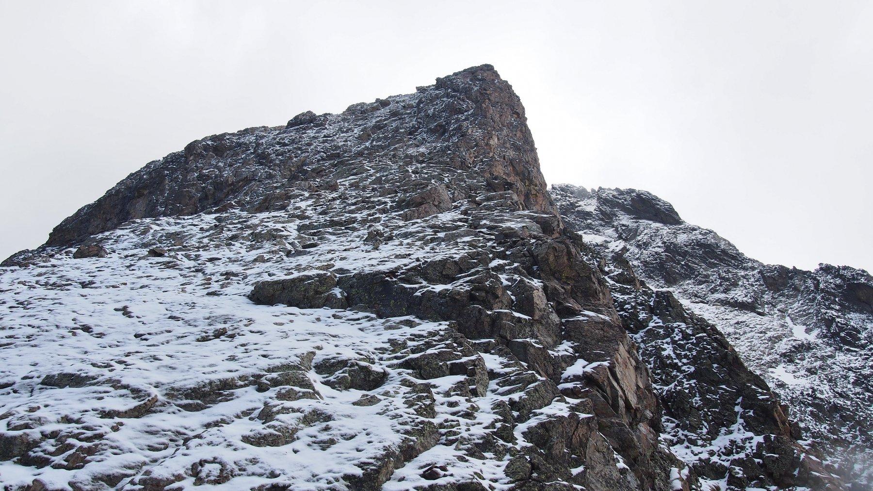 cresta sigismondi in condizioni invernali