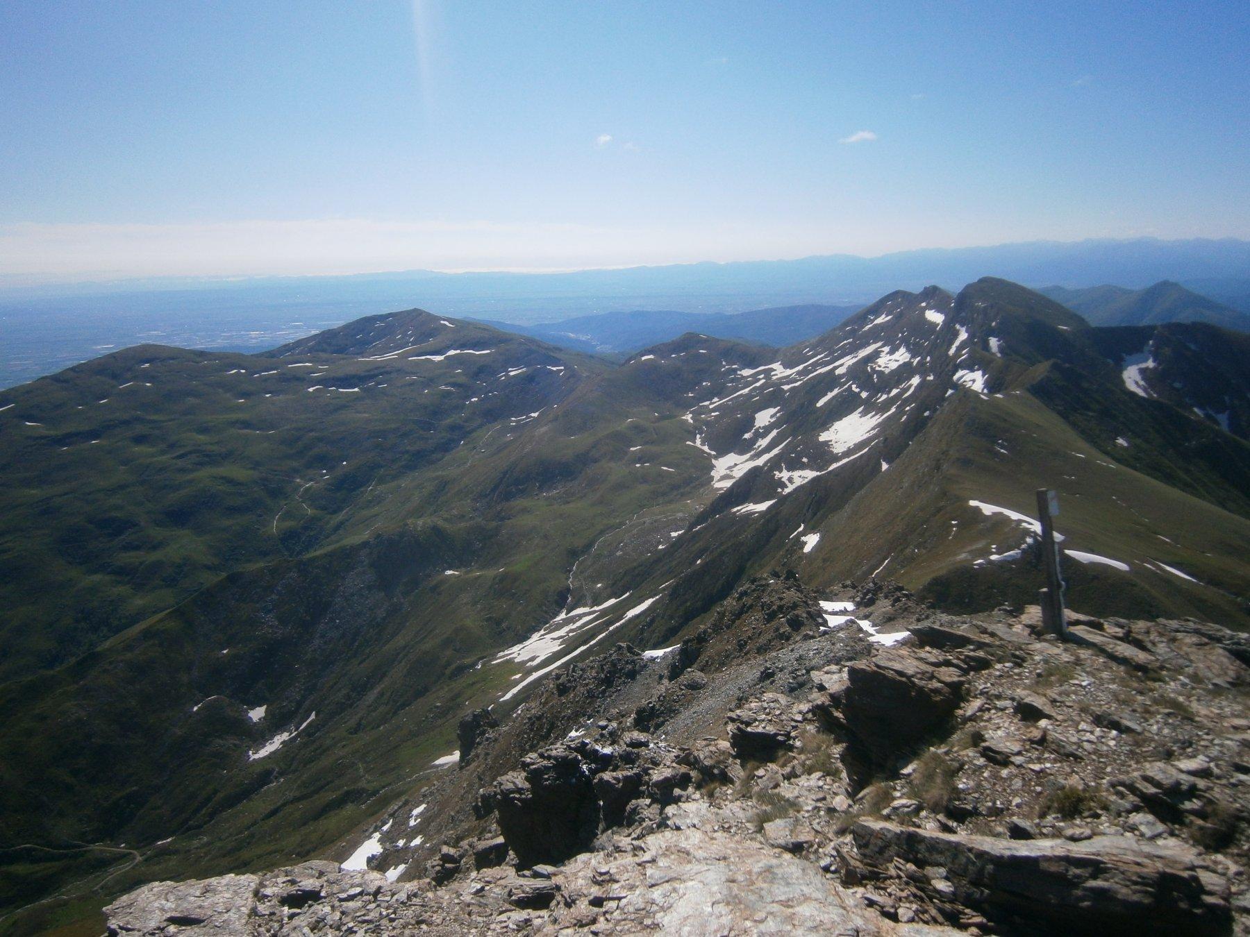 la cresta verso il Rocceniè