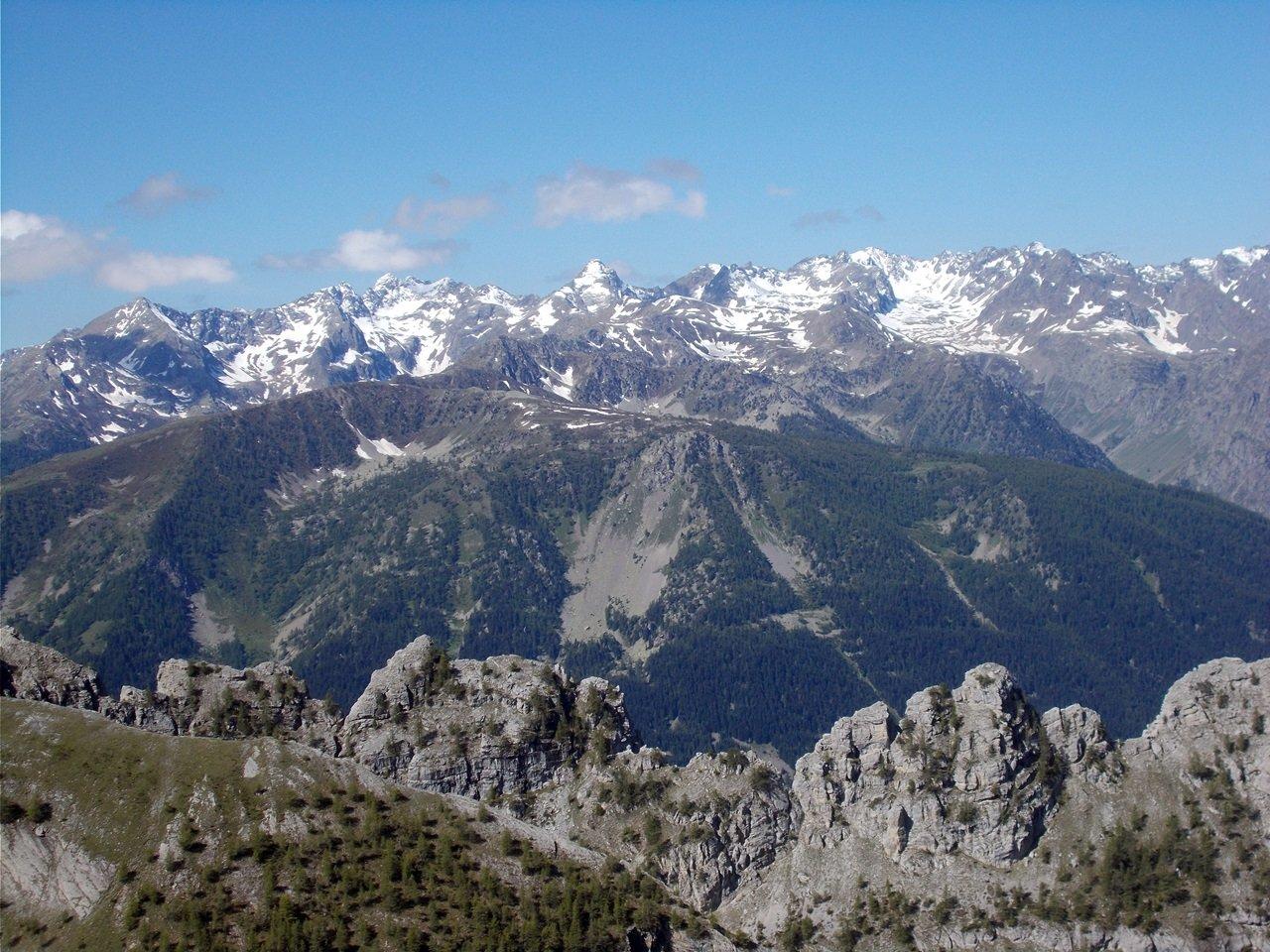 le montagne della Valle Stura imbiancate