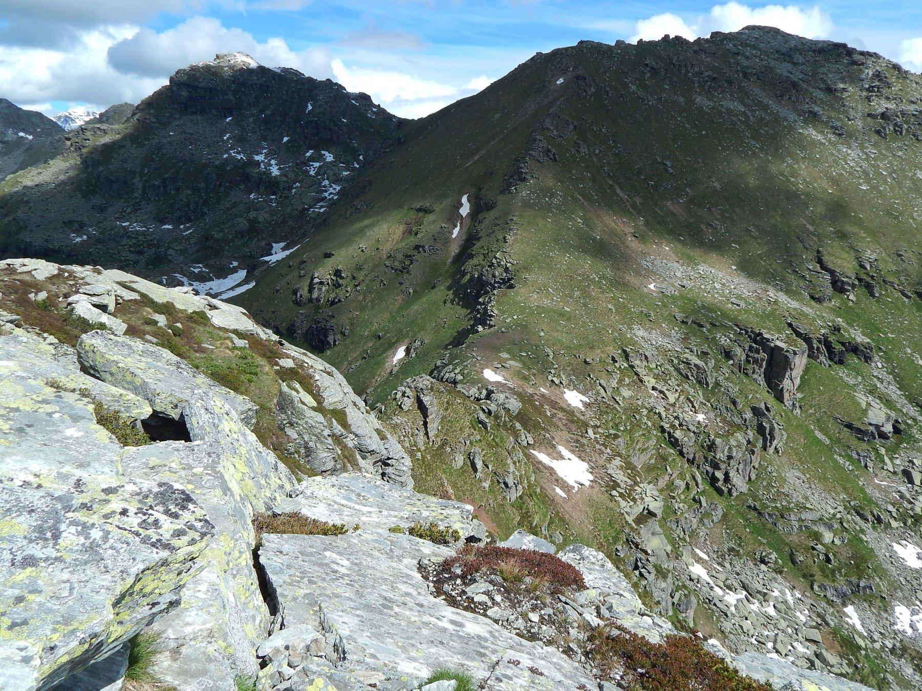 In basso il Colle della Forca, a sn la Giardonera e a ds il Monte Tovo
