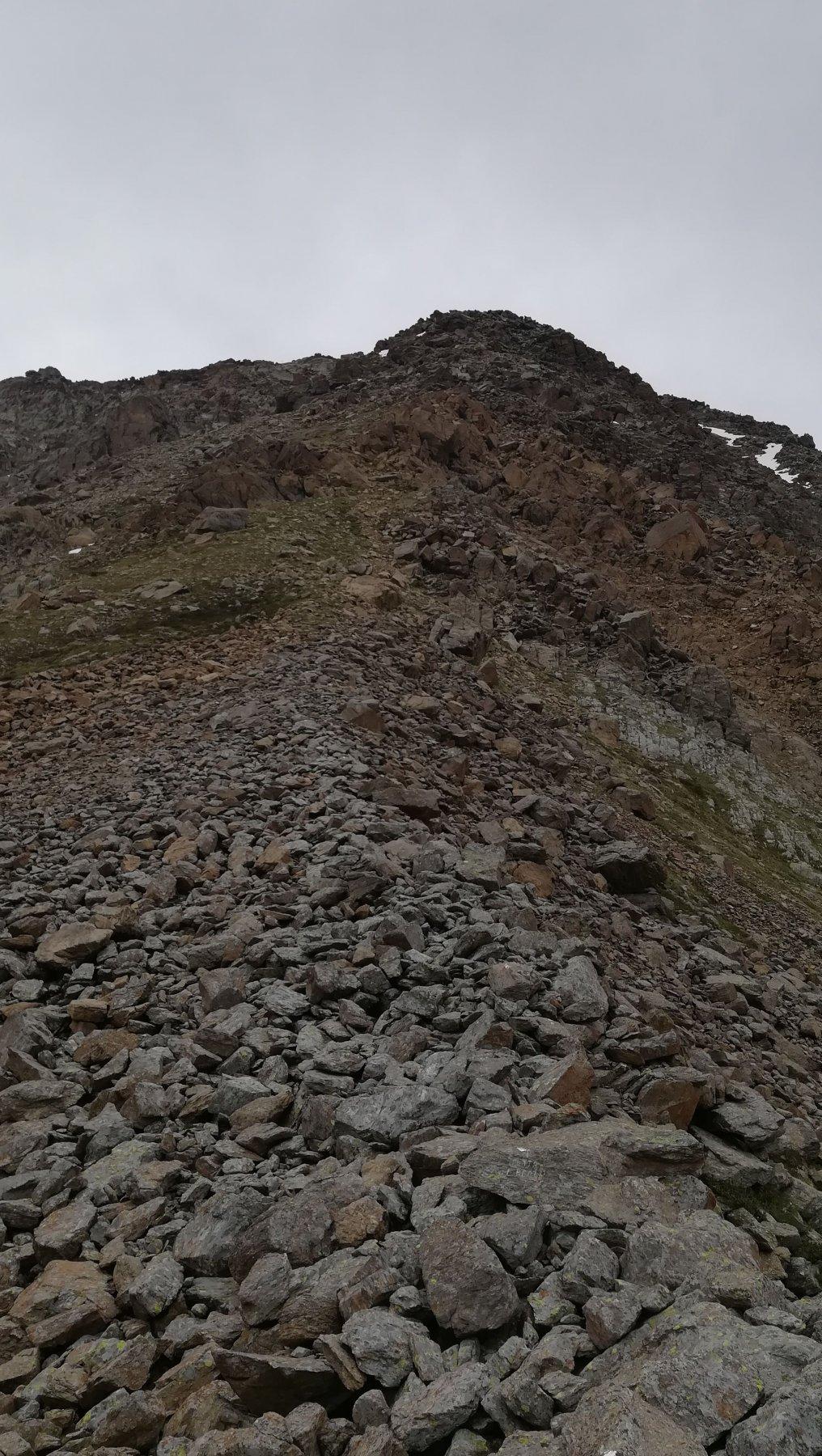 Pietraia iniziale per la cima