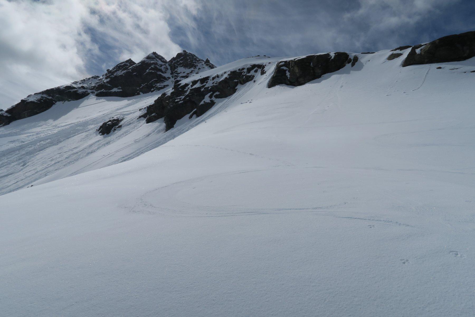 condizione neve parte superiore dove non era slavinato