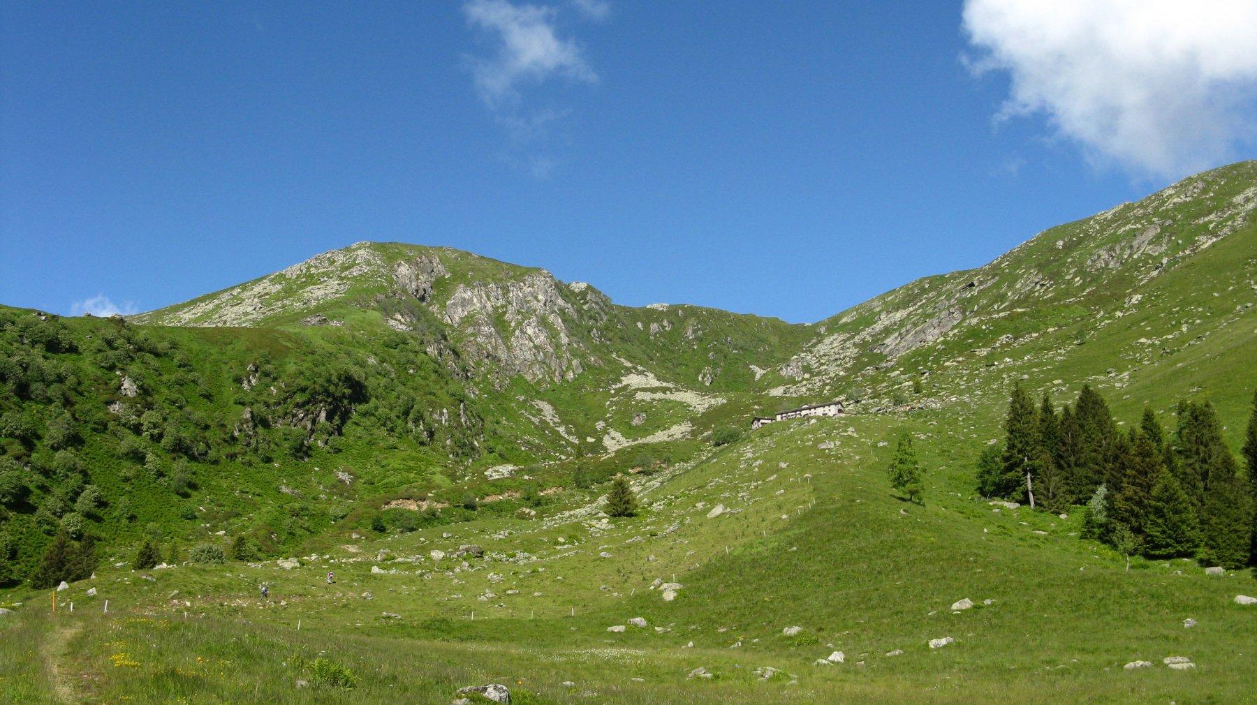 il pianoro dell'Alpe Oregge