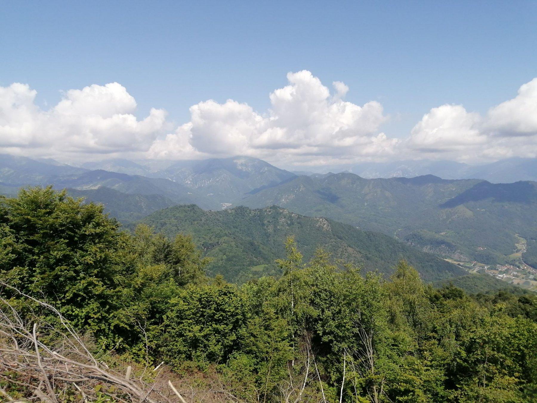 Panorama verso la Valle Grana