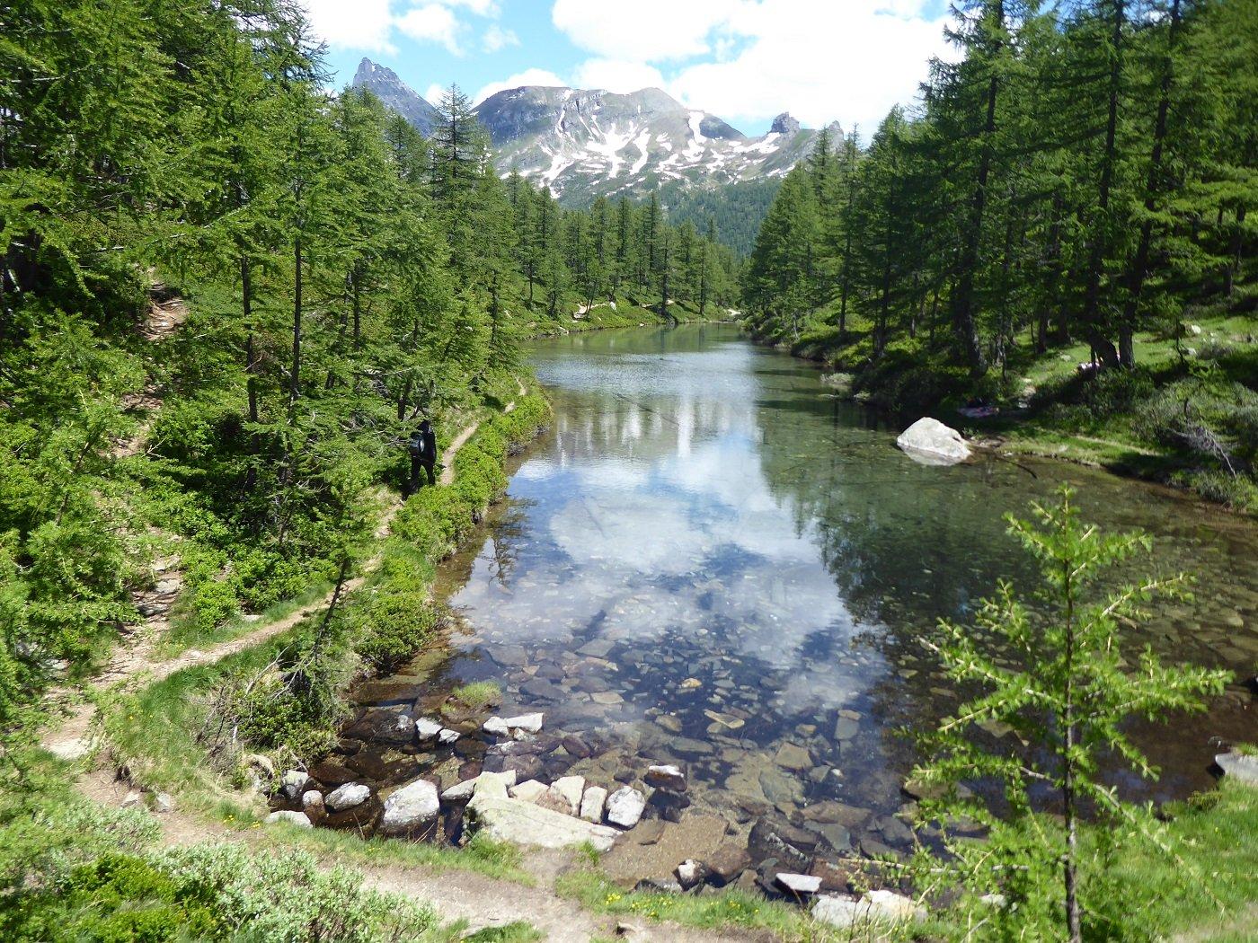 Il più a monte dei Laghi delle Streghe.