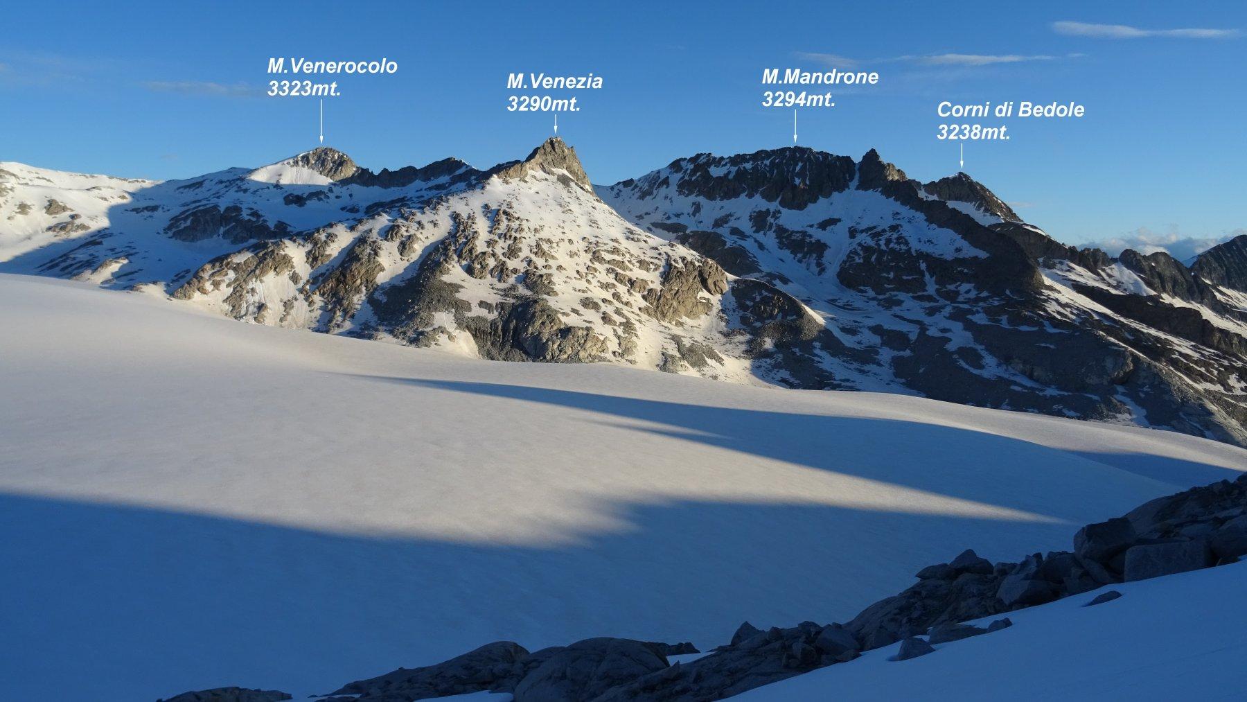 Panorama sulla Vedretta del Mandrone.