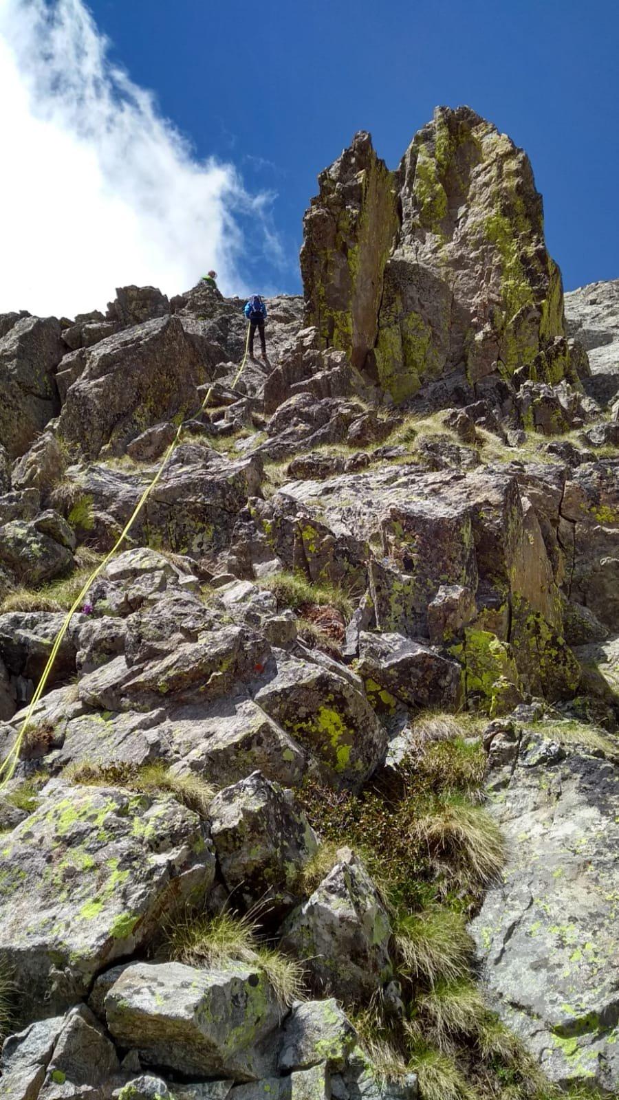 L'ultima calata in direzione Passo del Chiapous