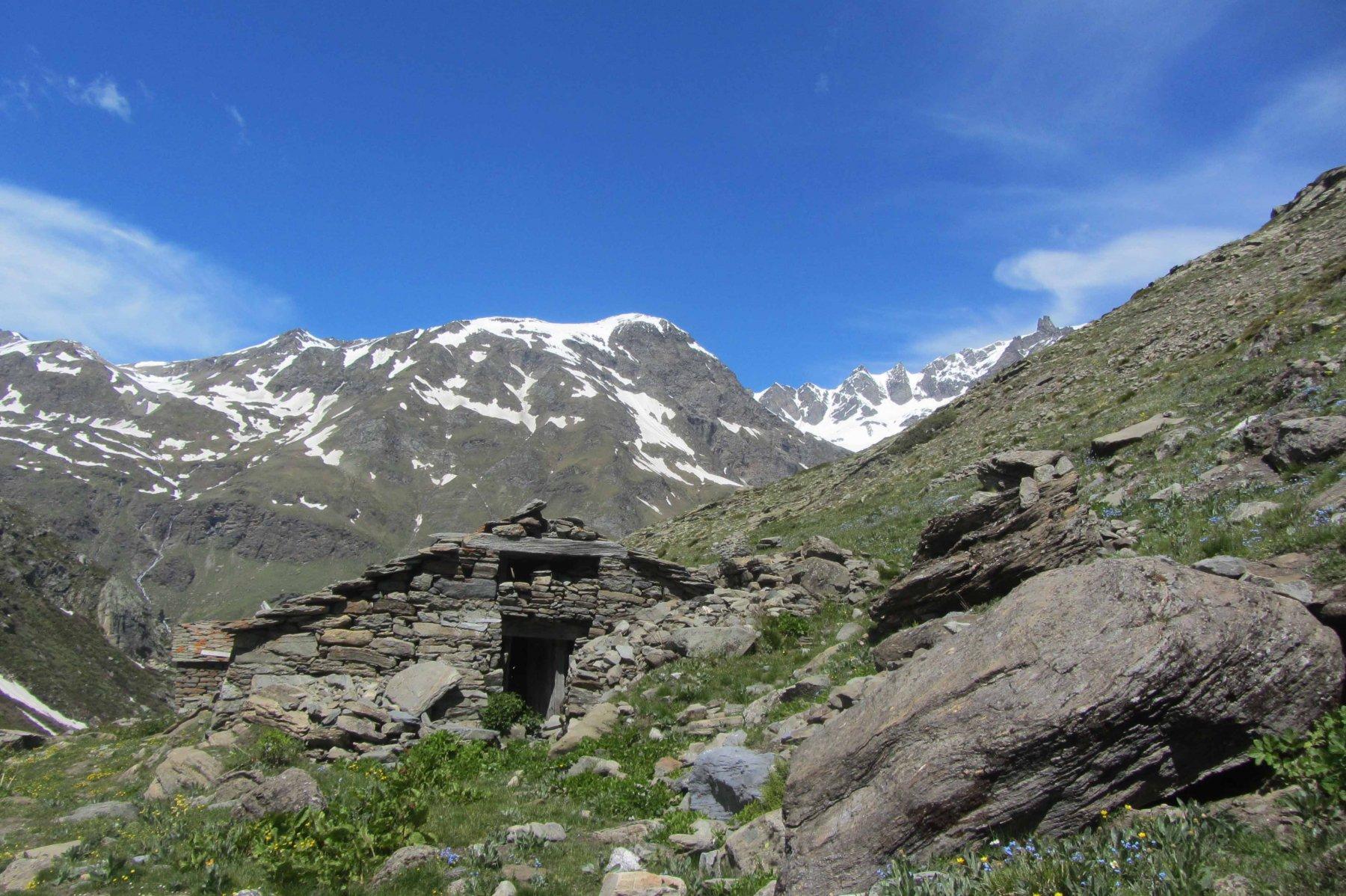 Vallone della Gran Vaudala e l'alpe Vaudala