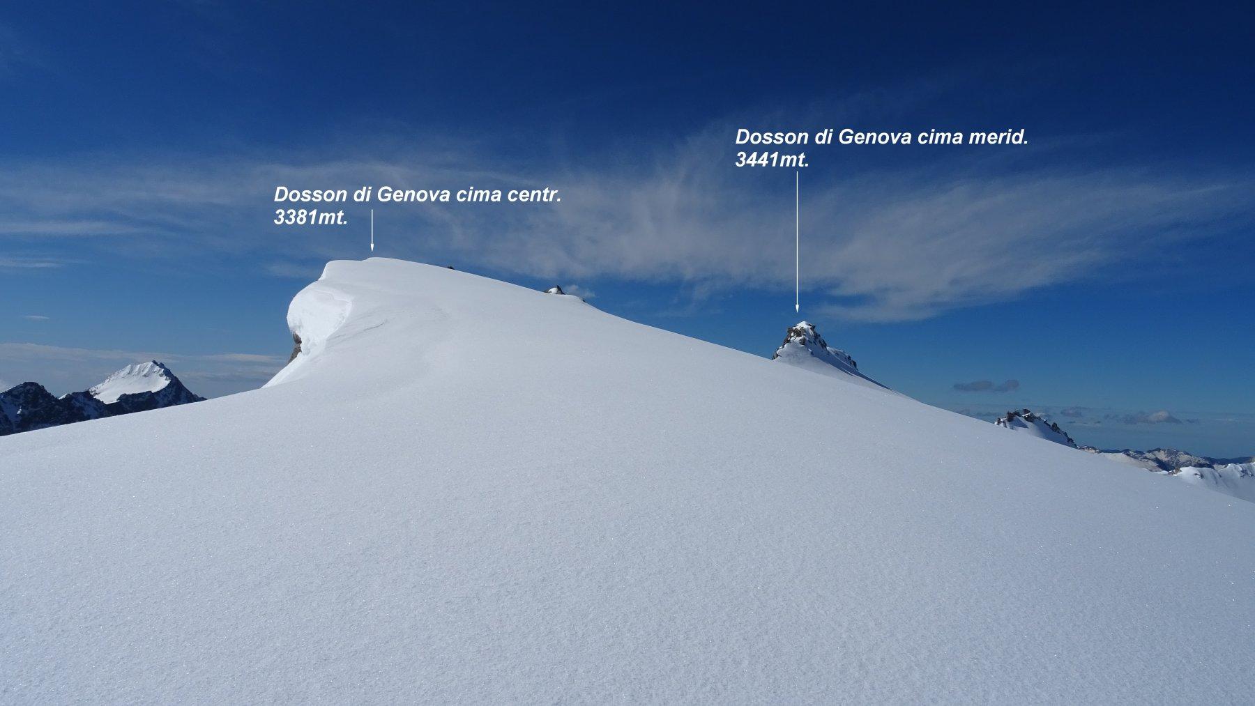 Verso la cresta del Dosson centrale.