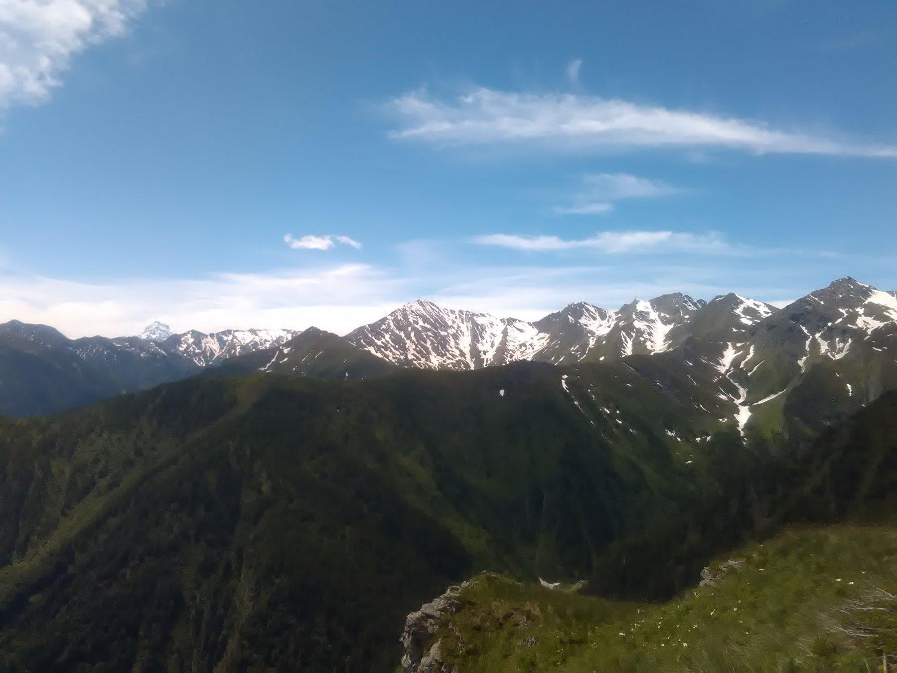 Dalla cima verso la Vergia