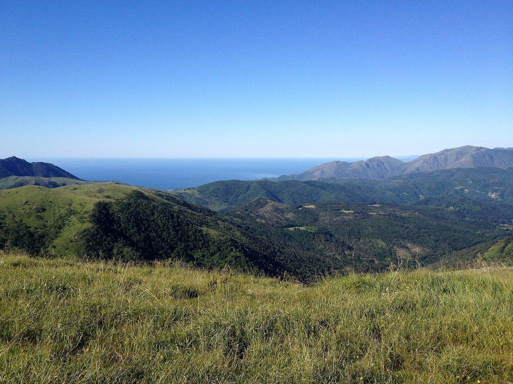 Dal monte Poggio vista stupenda, a sx punta Martin a dx Tardie, Reixa.