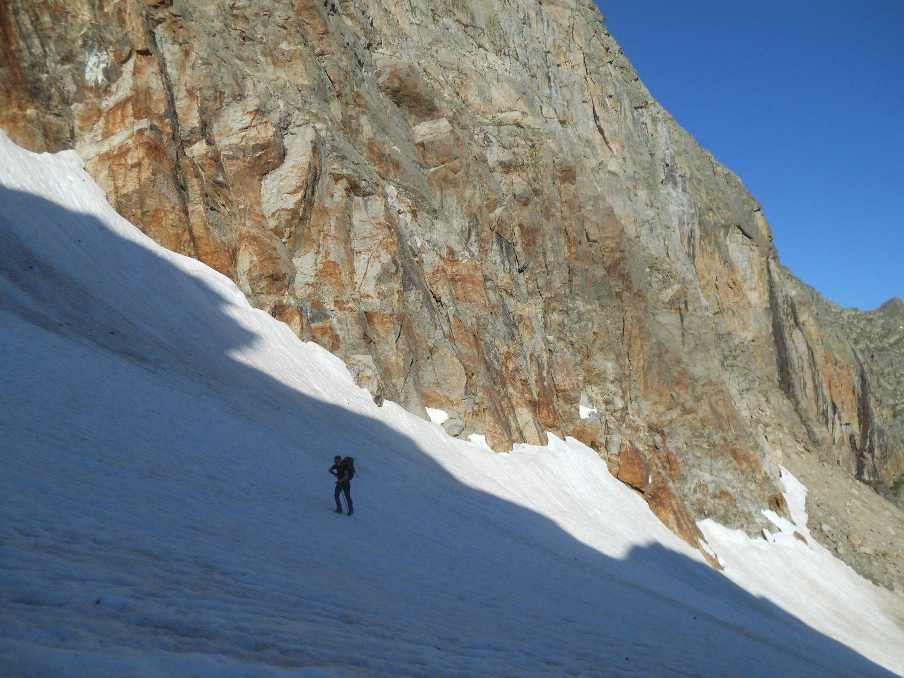 Avvicinamento sulla neve verso il Draoun del Matto