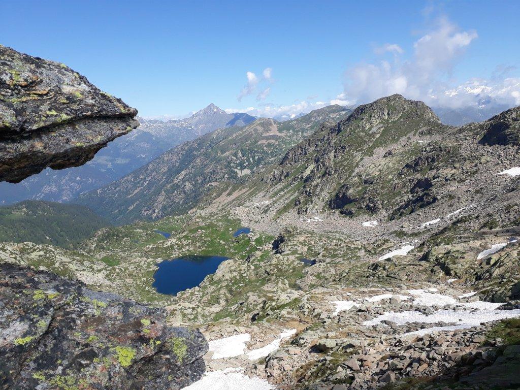 Monte Rosso - Cresta Nord: panorama sulla Vallée
