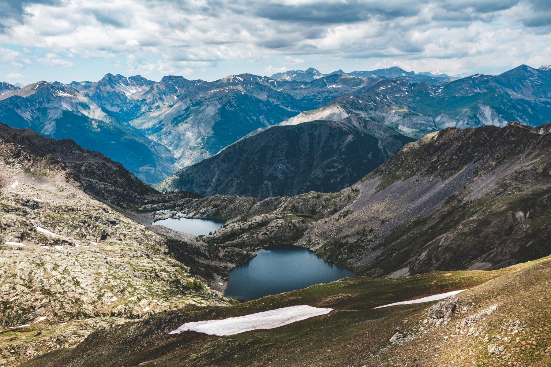i laghi di vens dalla cima