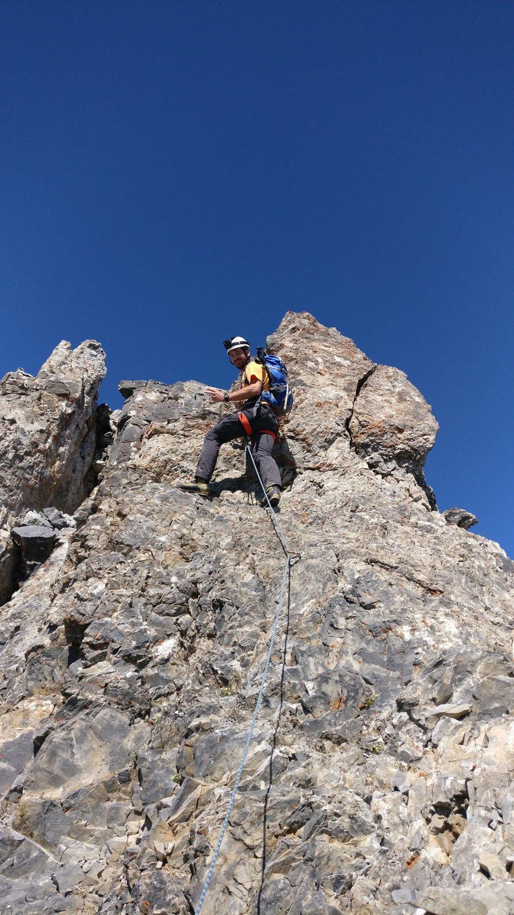 un tratto della cresta Oronaye Vetta-punta Dronero